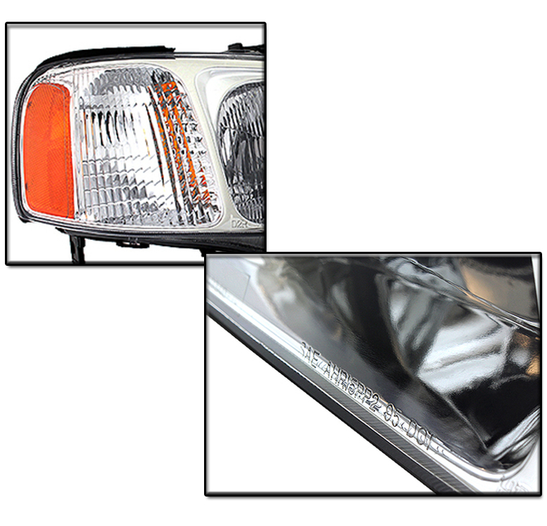 FOR 1999 2000 2001 ACURA TL CHROME SET REPLACEMENT