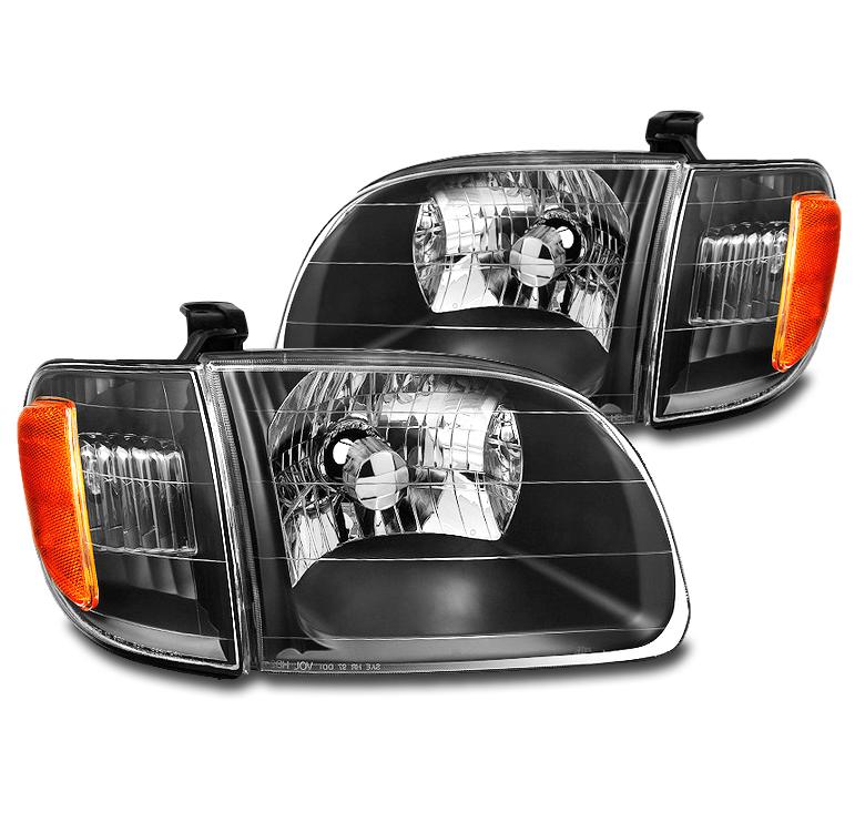 Fits 2000-2004 Toyota Tundra RegularAccess Cab Headlight Pair Set+6000K HID