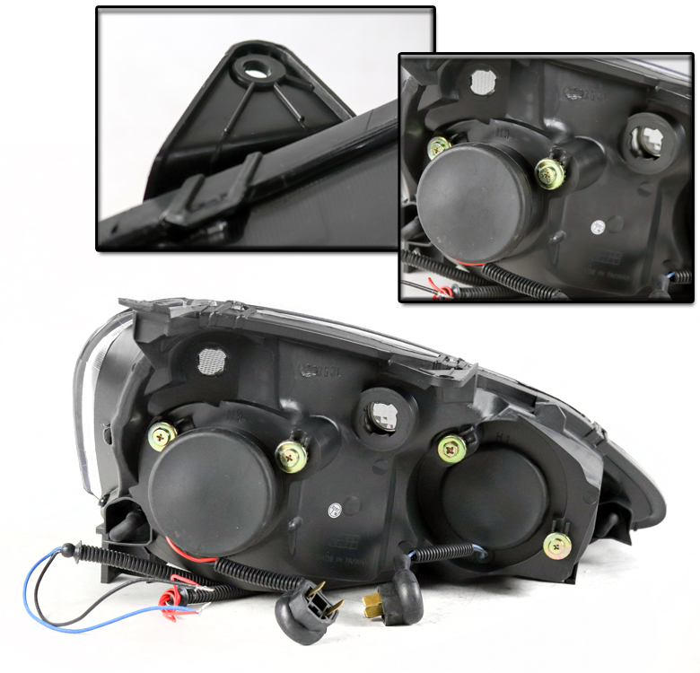 FOR 2002 2003 2004 ACURA RSX DC5 BLACK PROJECTOR HALO