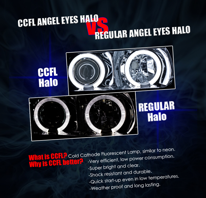 FOR 2005 2006 ACURA RSX BLACK CCFL HALO LED PROJECTOR