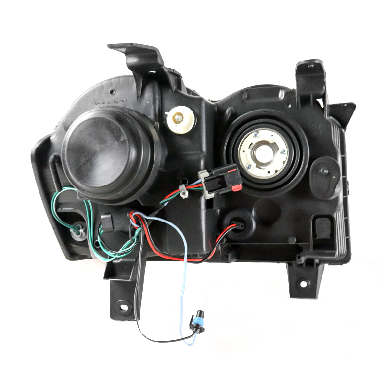 08 09 10 JEEP GRAND CHEROKEE BLACK REPLACEMENT PROJECTOR HEADLIGHTS LAMPS 15