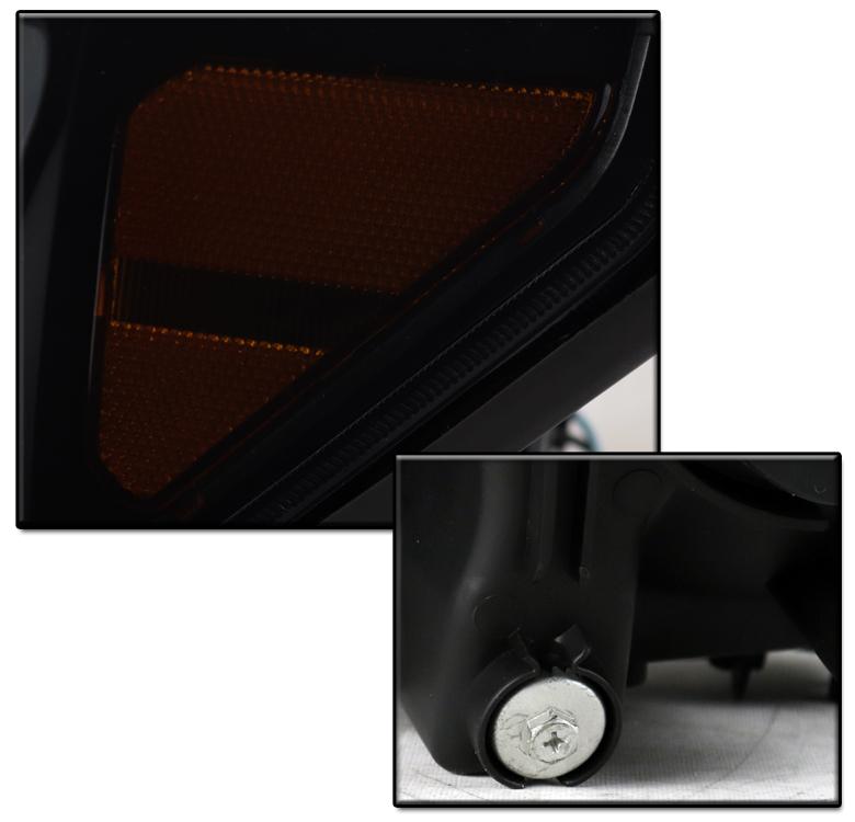 Black  Smoke Led Projector Headlight  10k Hid For 2007