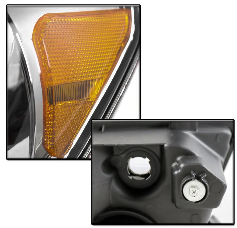Chrome Led Projector Headlights 6k Hid For 2007