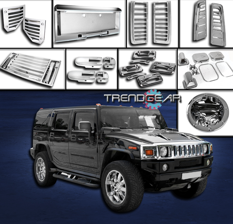 2003-2005 HUMMER H2 CHROME COVER TRIM 36PCS COMBO SIDE