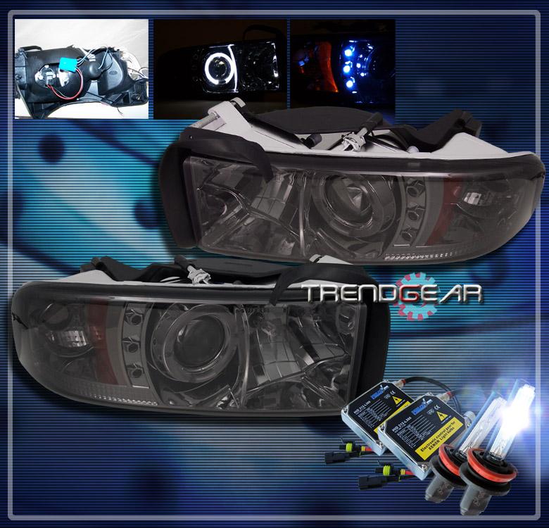 1994 2001 dodge ram halo led projector headlights hid. Black Bedroom Furniture Sets. Home Design Ideas