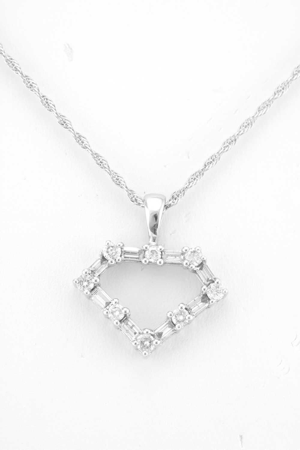baguette necklace pave diamond products and roseark pendant