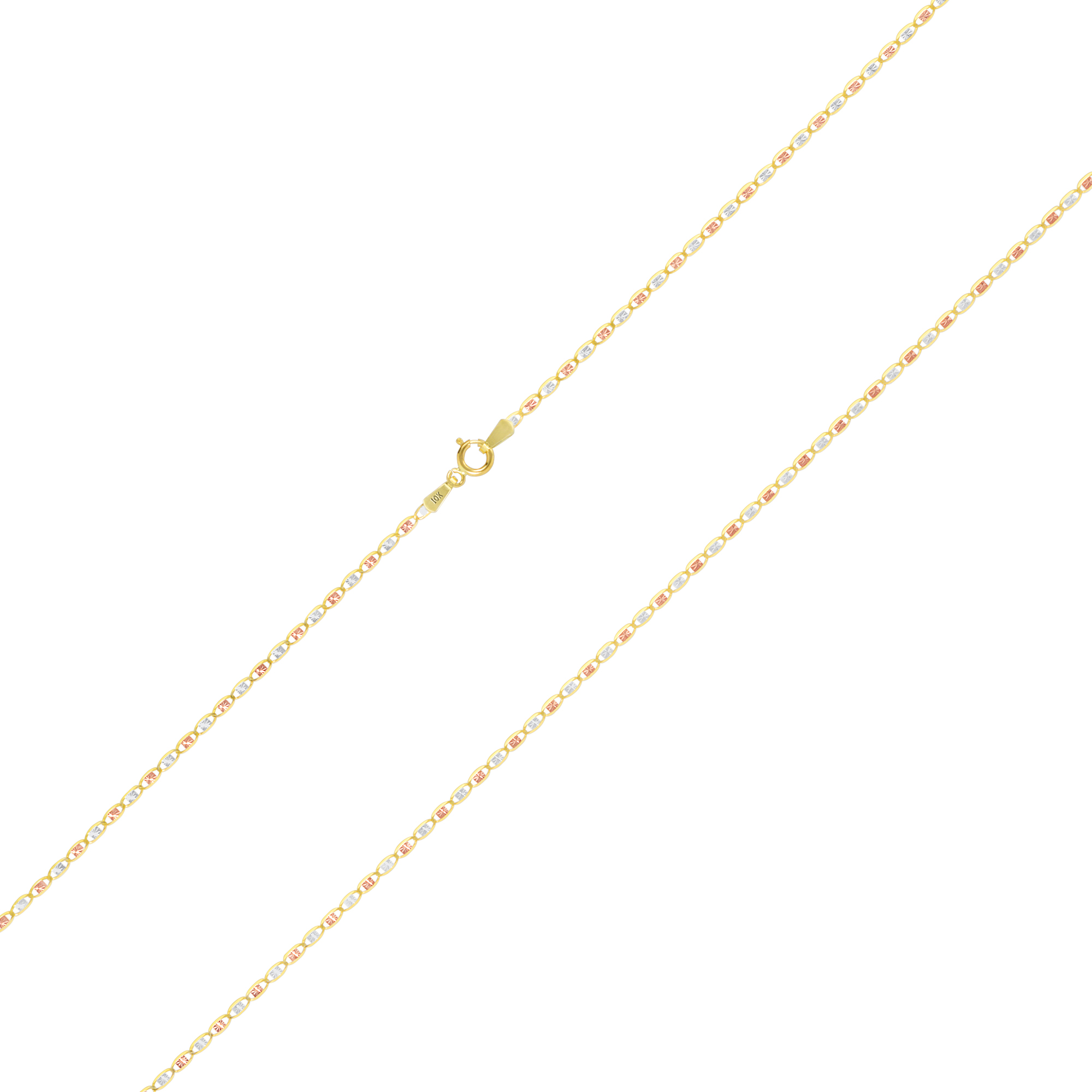 10K-Solid-Tri-Yellow-Rose-White-Gold-Thin-1-5mm-Valentino-Chain-Necklace-16-034-24-034 thumbnail 18