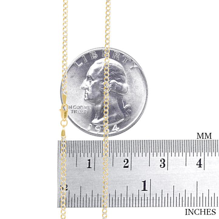 10K-Yellow-Gold-2mm-10-5mm-Diamond-Cut-Pave-Cuban-Chain-Necklace-Bracelet-7-034-30-034 thumbnail 16