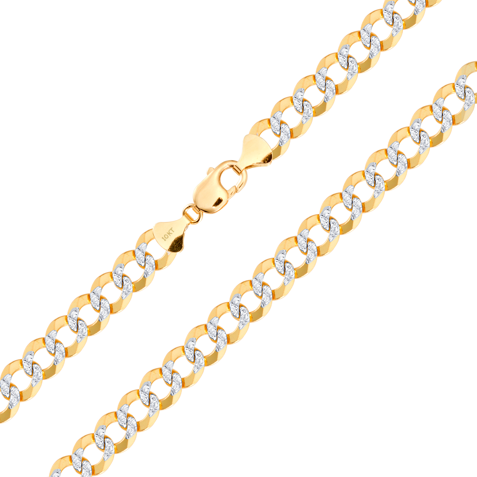10k-Yellow-Gold-Solid-11-5mm-Diamond-Cut-Pave-Cuban-Curb-Chain-Necklace-22-034-30-034 thumbnail 15
