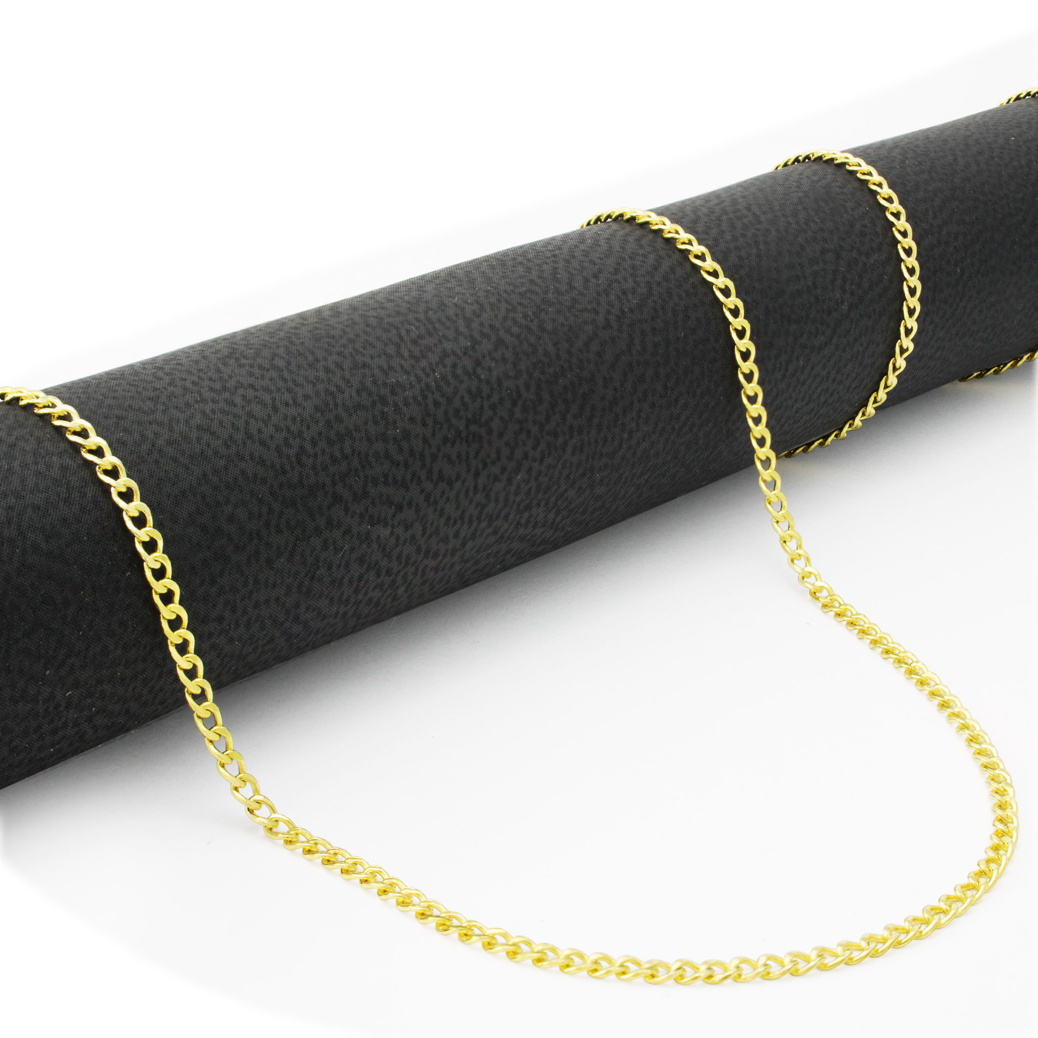 10K-Yellow-Gold-2mm-11mm-Cuban-Curb-Chain-Pendant-Necklace-Men-Women-16-034-30-034 thumbnail 10