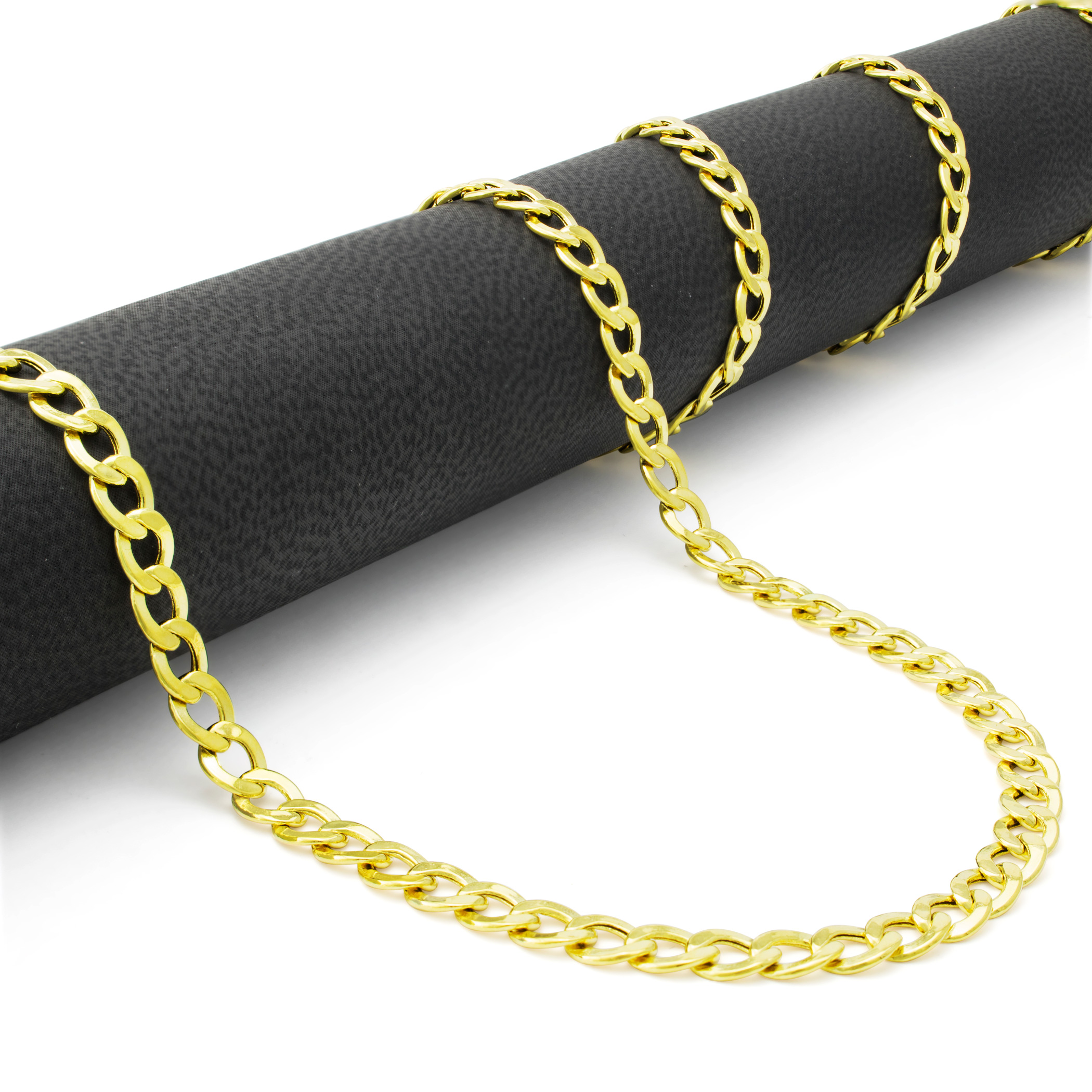 10K-Yellow-Gold-2mm-11mm-Cuban-Curb-Chain-Pendant-Necklace-Men-Women-16-034-30-034 thumbnail 12