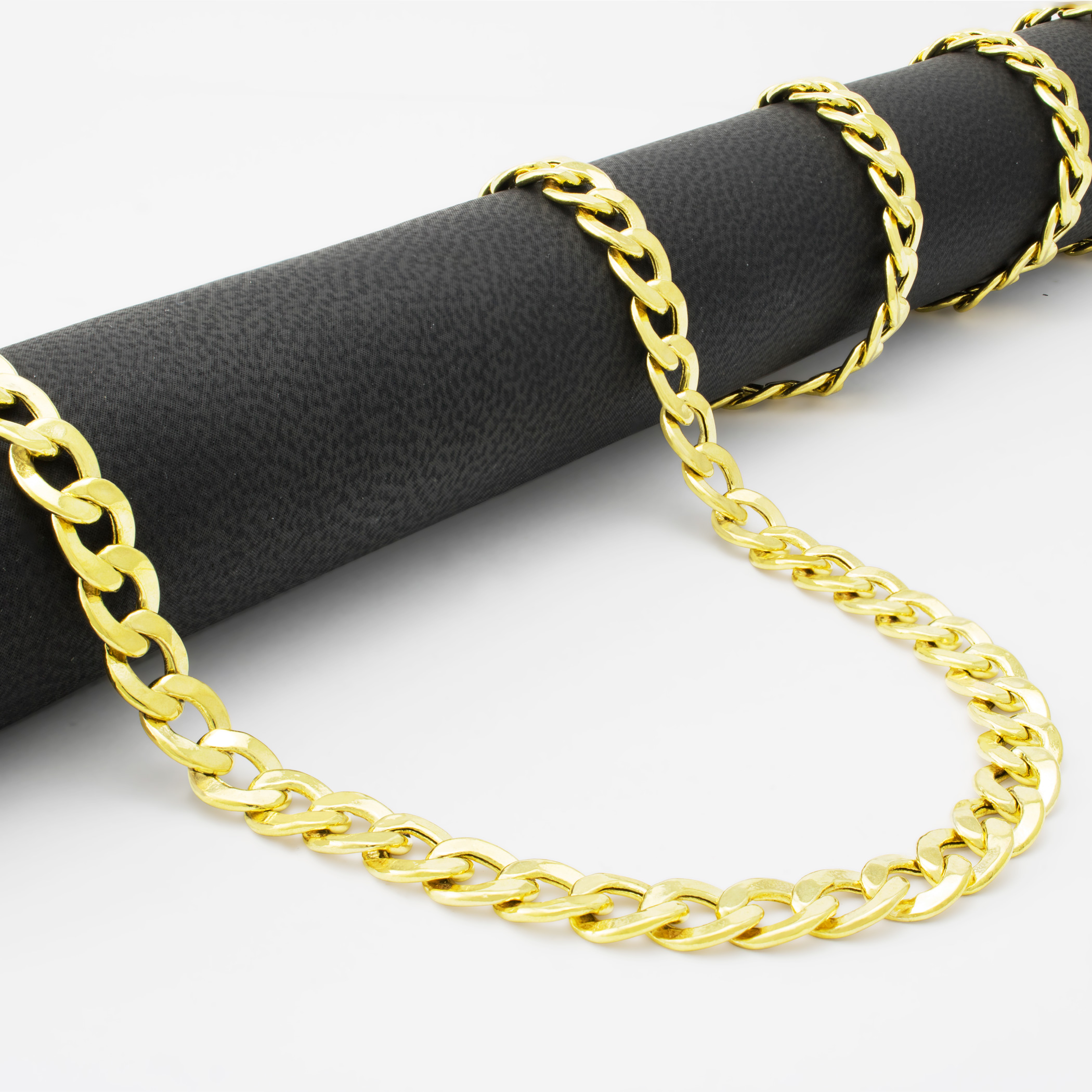 Real-10K-Yellow-Gold-6-5mm-Wide-Italian-Cuban-Link-Curb-Chain-Necklace-20-034-30-034