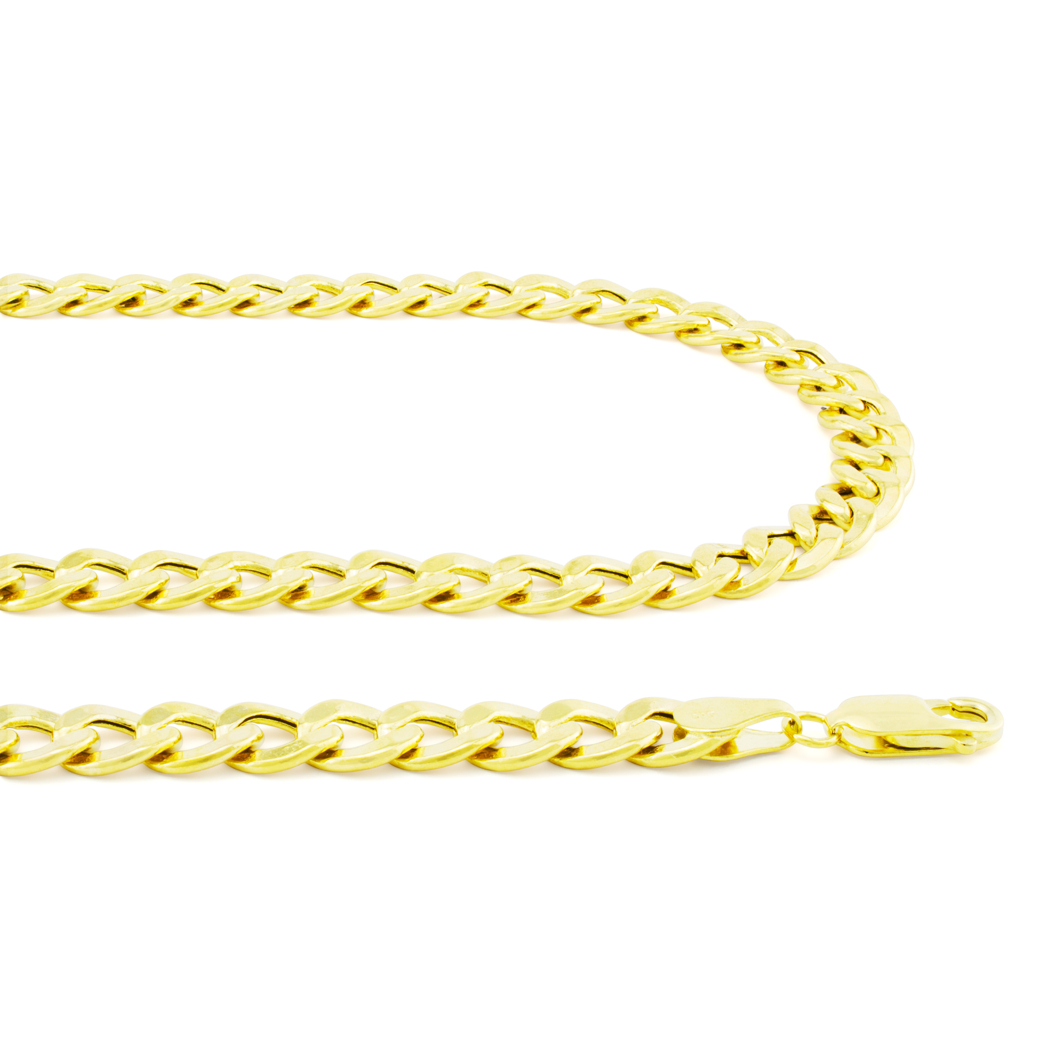 Real-10K-Yellow-Gold-6-5mm-Cuban-Curb-Chain-Link-Bracelet-Lobster-Clasp-7-034-8-034-9-034 thumbnail 20