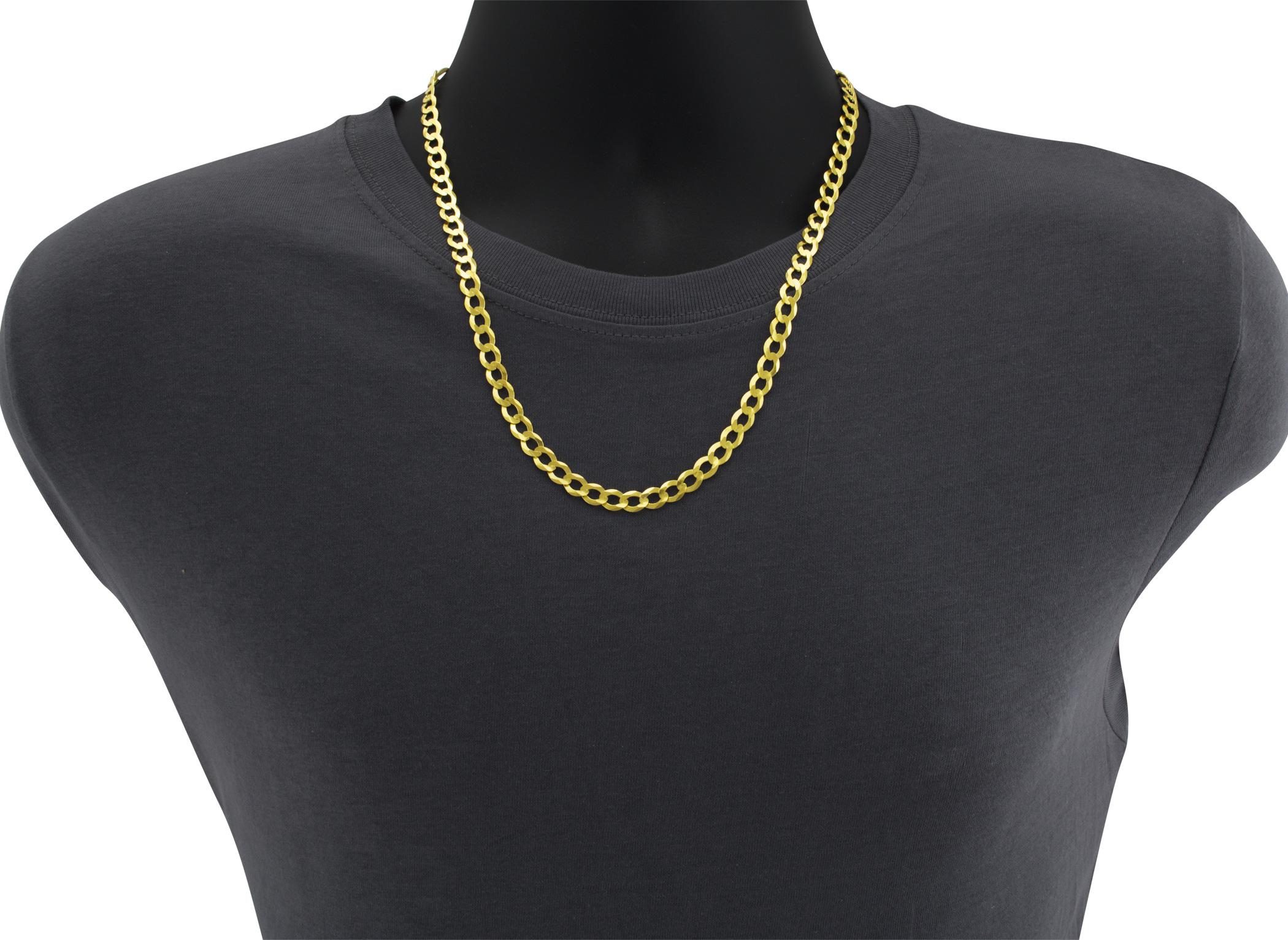 10K-Solid-Yellow-Gold-2mm-12mm-Cuban-Curb-Link-Chain-Bracelet-Men-Women-7-034-8-034-9-034 thumbnail 15