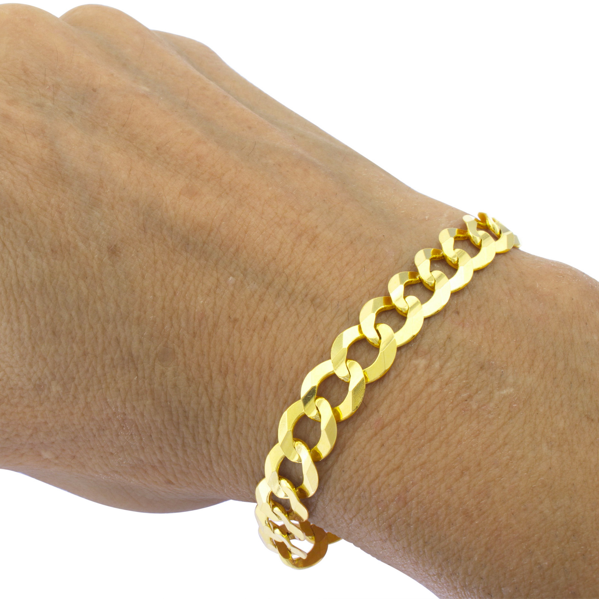 Fine Jewelry Made In Italy Mens 9 Inch 10K Gold Link Bracelet 7NfEo