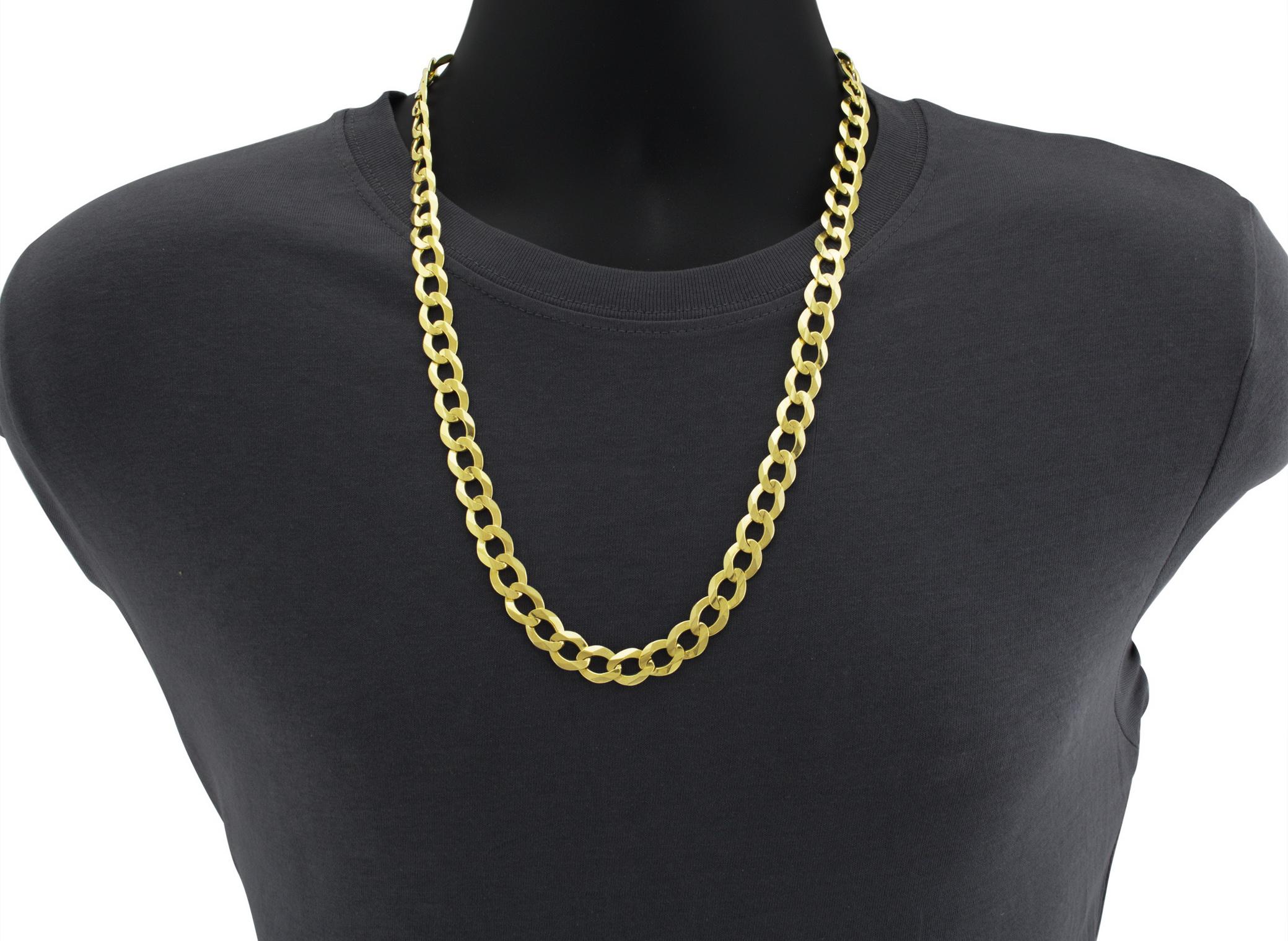 10K-Solid-Yellow-Gold-2mm-12mm-Cuban-Curb-Link-Chain-Bracelet-Men-Women-7-034-8-034-9-034 thumbnail 9