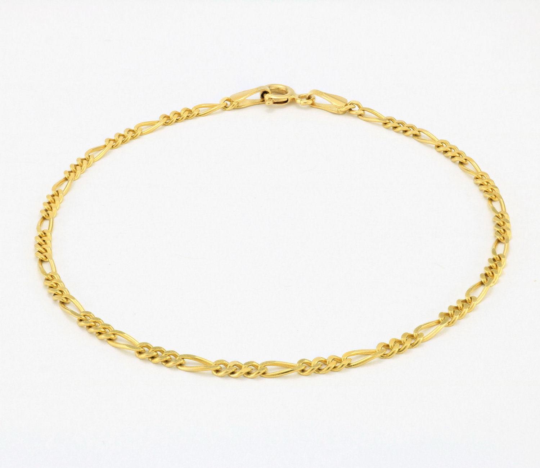 10K-Yellow-Gold-2-5mm-Womens-Dainty-Figaro-Chain-Link-Bracelet-Anklet-7-034-8-034-9-034 thumbnail 14