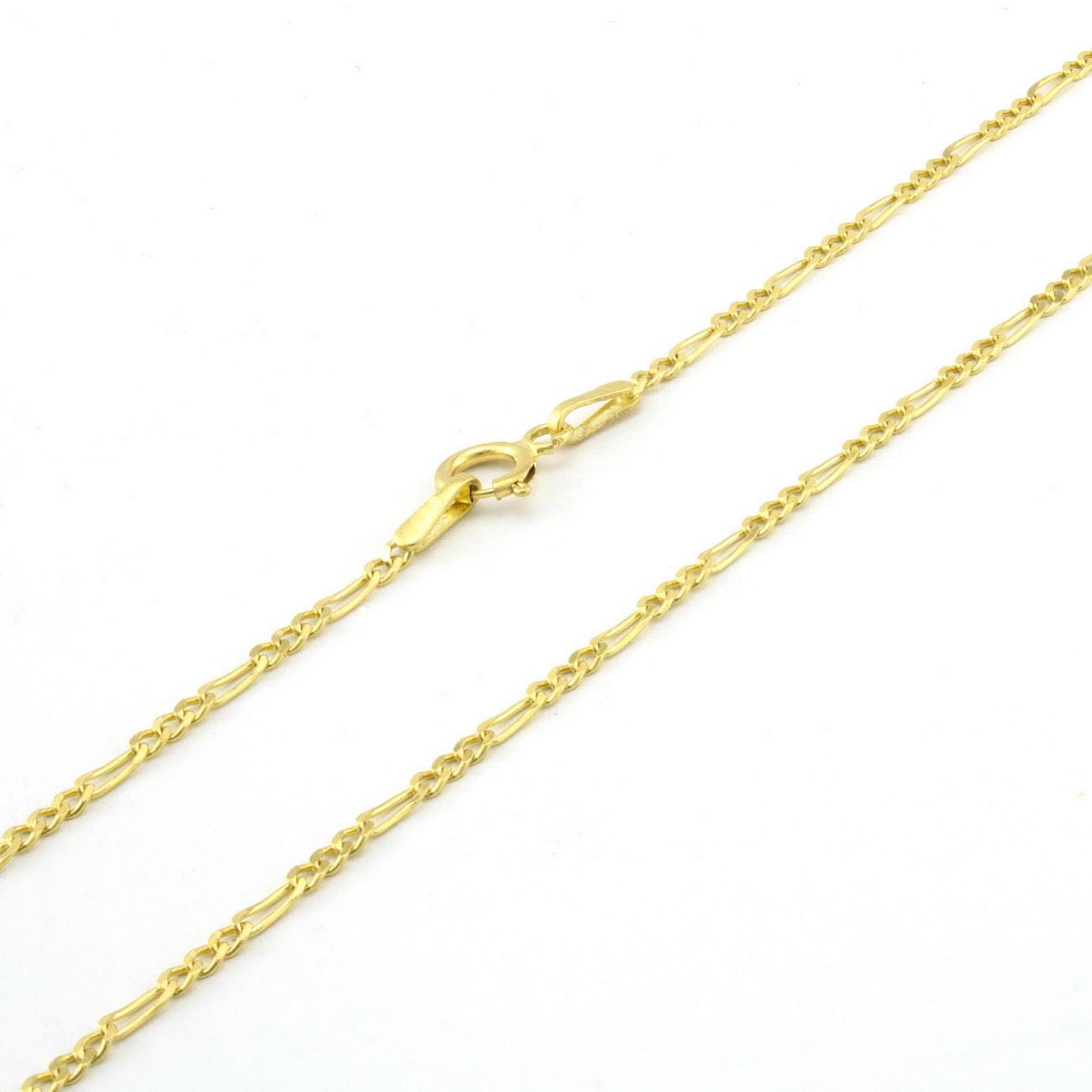 10K-Yellow-Gold-2-5mm-Womens-Dainty-Figaro-Chain-Link-Bracelet-Anklet-7-034-8-034-9-034 thumbnail 20