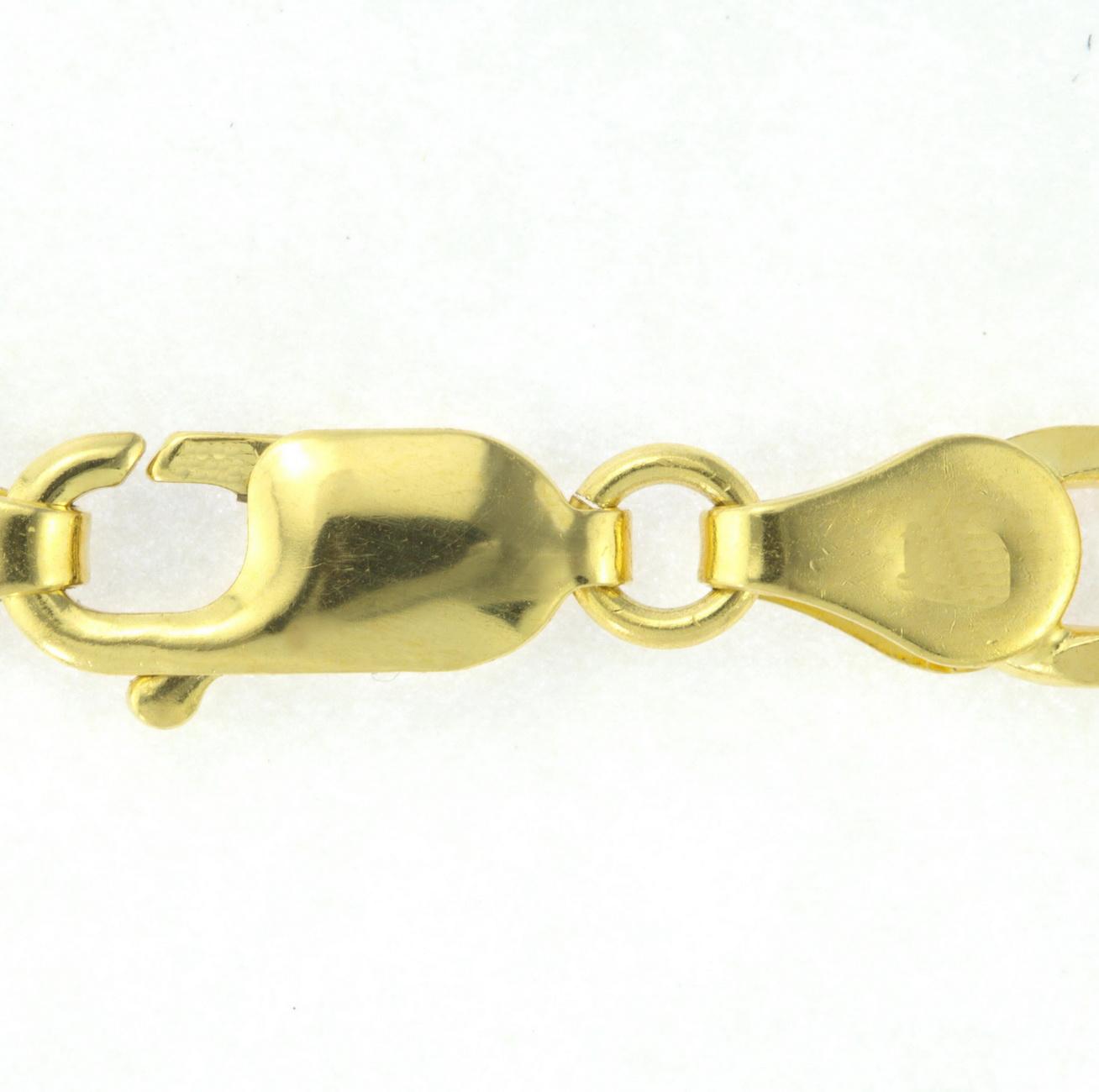 10K-Yellow-Gold-Italian-Figaro-Chain-Link-Bracelet-Mens-Women-2mm-9mm-7-034-8-034-9-034 thumbnail 11