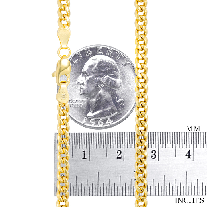 10K-Yellow-Gold-3-5mm-17mm-Real-Miami-Cuban-Link-Necklace-Chain-Bracelet-7-034-30-034 thumbnail 23