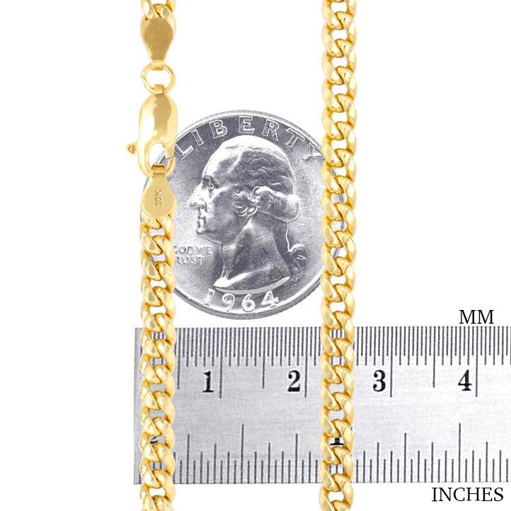 10K-Yellow-Gold-3-5mm-17mm-Real-Miami-Cuban-Link-Necklace-Chain-Bracelet-7-034-30-034 thumbnail 21
