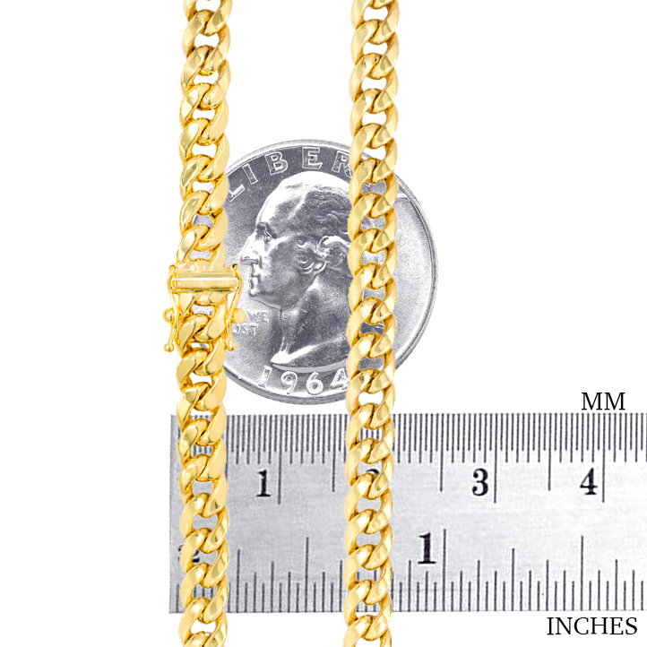 10K-Yellow-Gold-3-5mm-17mm-Real-Miami-Cuban-Link-Necklace-Chain-Bracelet-7-034-30-034 thumbnail 27