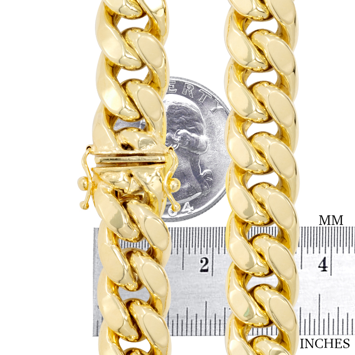 10K-Yellow-Gold-3-5mm-17mm-Real-Miami-Cuban-Link-Necklace-Chain-Bracelet-7-034-30-034 thumbnail 15