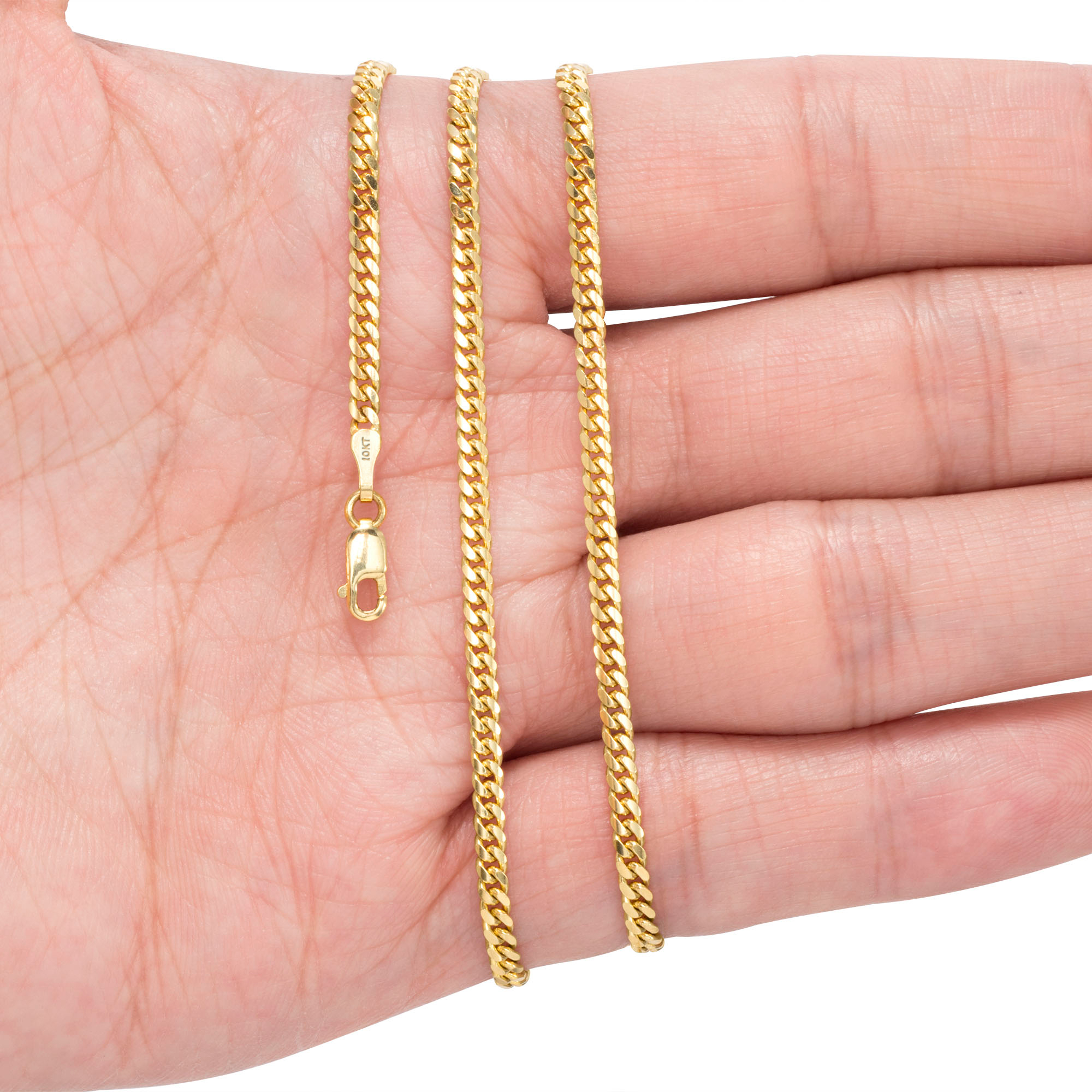 10K-Yellow-Gold-Solid-2-7mm-10mm-Miami-Cuban-Link-Chain-Necklace-Bracelet-7-034-30-034 thumbnail 14
