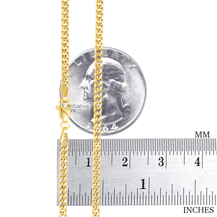 10K-Yellow-Gold-Solid-2-7mm-10mm-Miami-Cuban-Link-Chain-Necklace-Bracelet-7-034-30-034 thumbnail 15