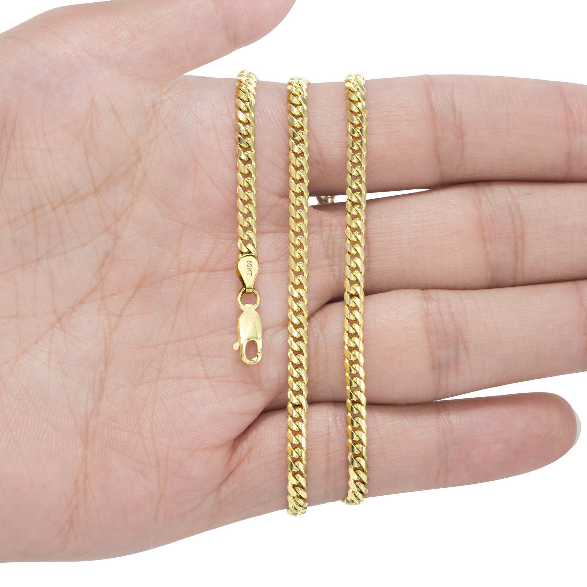 10K-Yellow-Gold-Solid-2-7mm-10mm-Miami-Cuban-Link-Chain-Necklace-Bracelet-7-034-30-034 thumbnail 16