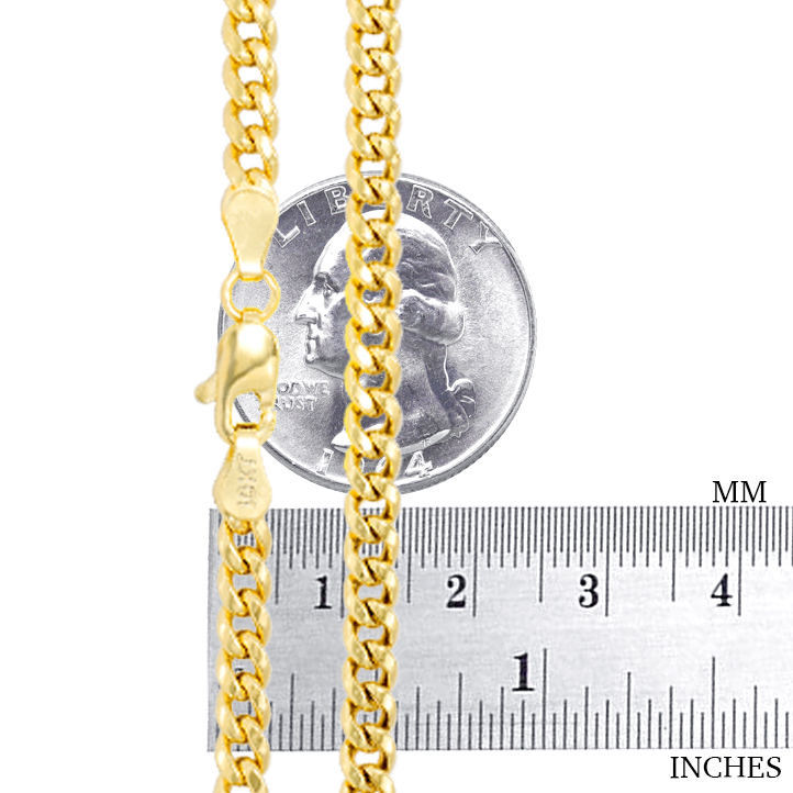 10K-Yellow-Gold-Solid-2-7mm-10mm-Miami-Cuban-Link-Chain-Necklace-Bracelet-7-034-30-034 thumbnail 17