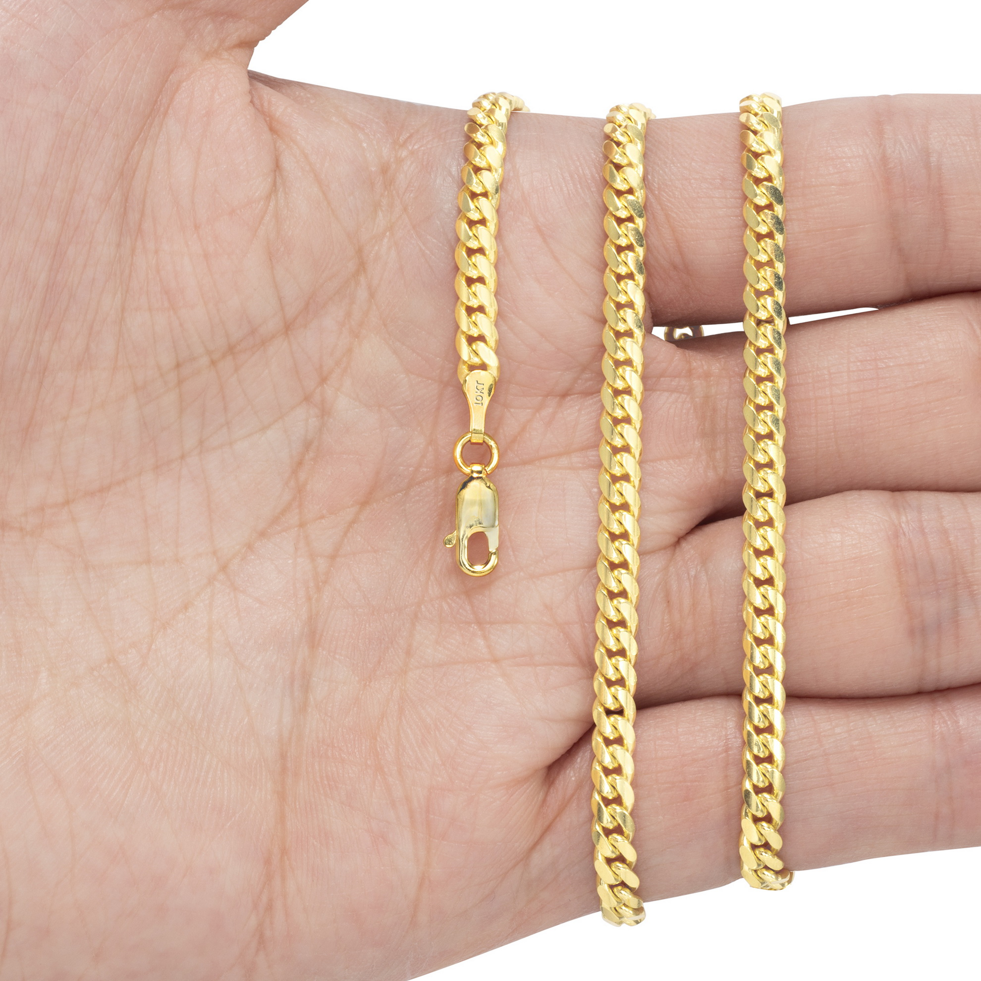 10K-Yellow-Gold-Solid-2-7mm-10mm-Miami-Cuban-Link-Chain-Necklace-Bracelet-7-034-30-034 thumbnail 18