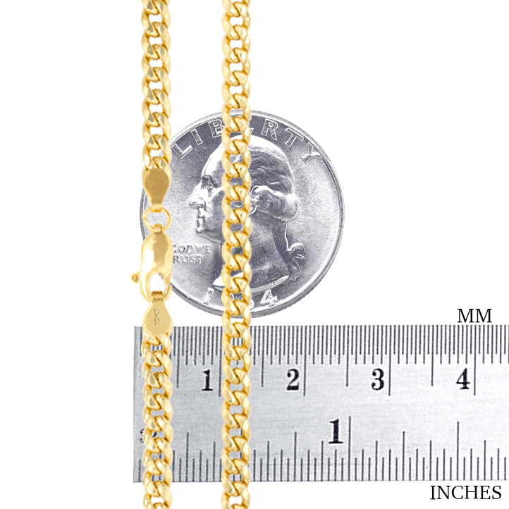 10K-Yellow-Gold-Solid-2-7mm-10mm-Miami-Cuban-Link-Chain-Necklace-Bracelet-7-034-30-034 thumbnail 19