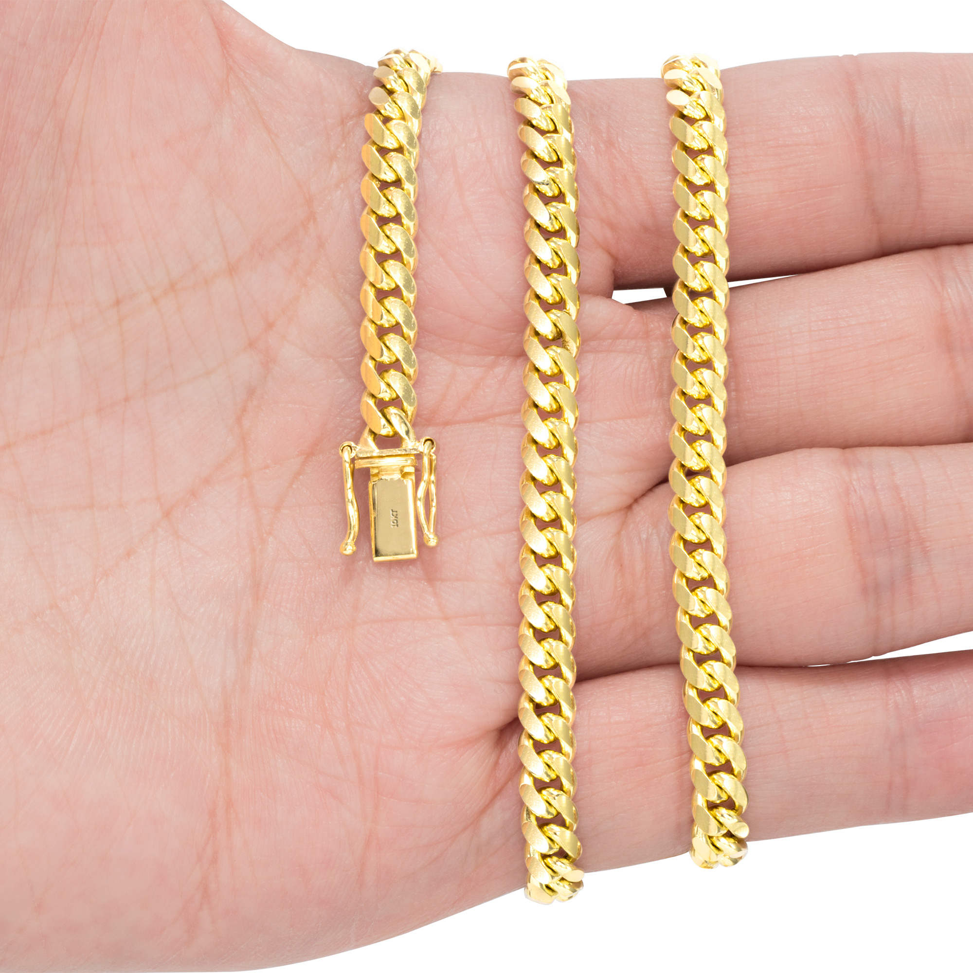 10K-Yellow-Gold-Solid-2-7mm-10mm-Miami-Cuban-Link-Chain-Necklace-Bracelet-7-034-30-034 thumbnail 20