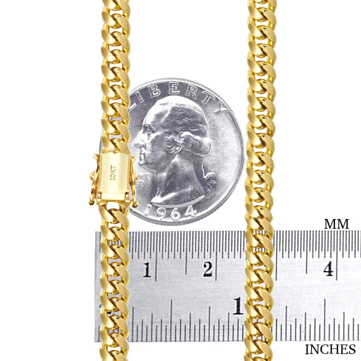 10K-Yellow-Gold-Solid-2-7mm-10mm-Miami-Cuban-Link-Chain-Necklace-Bracelet-7-034-30-034 thumbnail 21