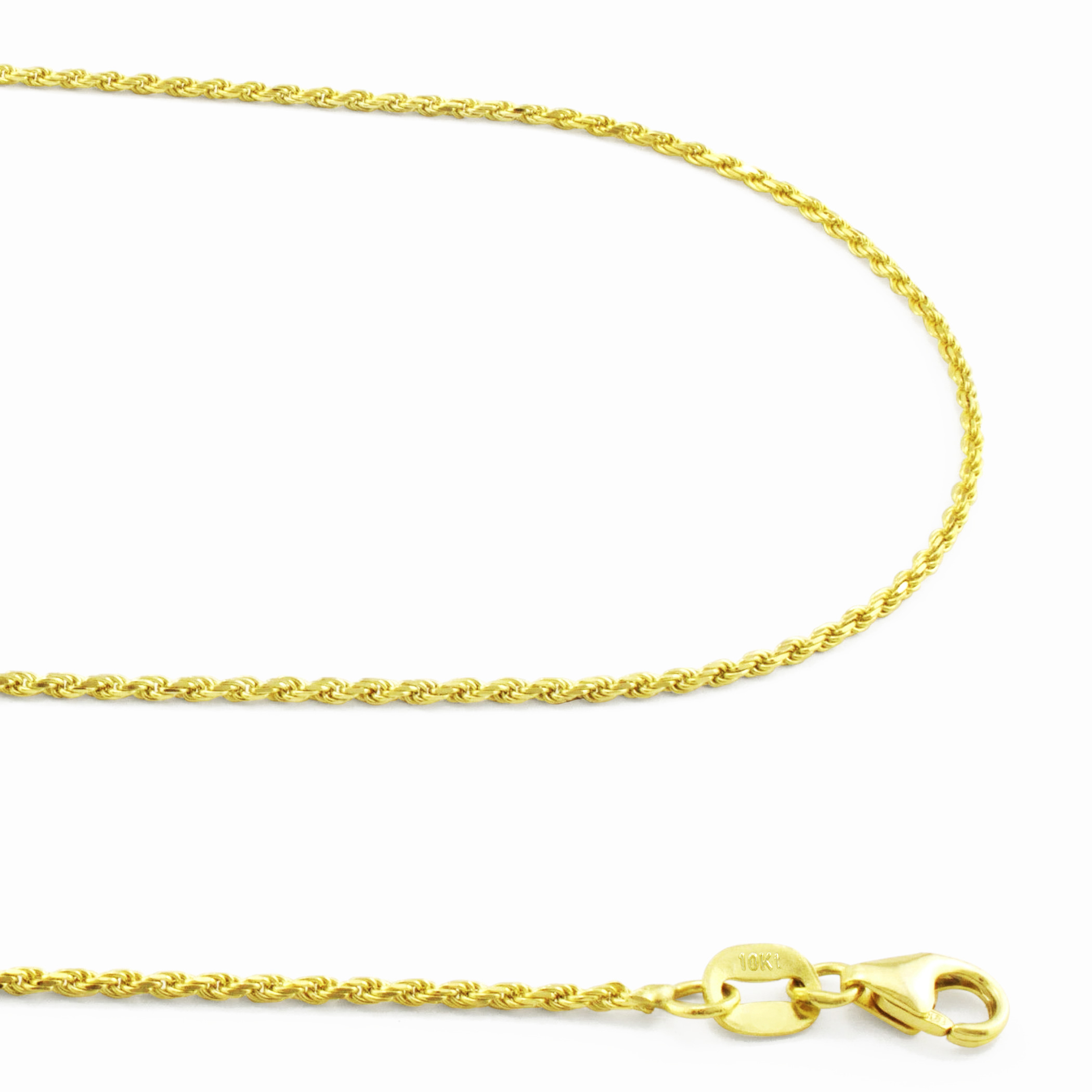 14k Yellow Gold 2.0mm Diamond-Cut Rope Chain Necklace Bracelet Anklet 7-36