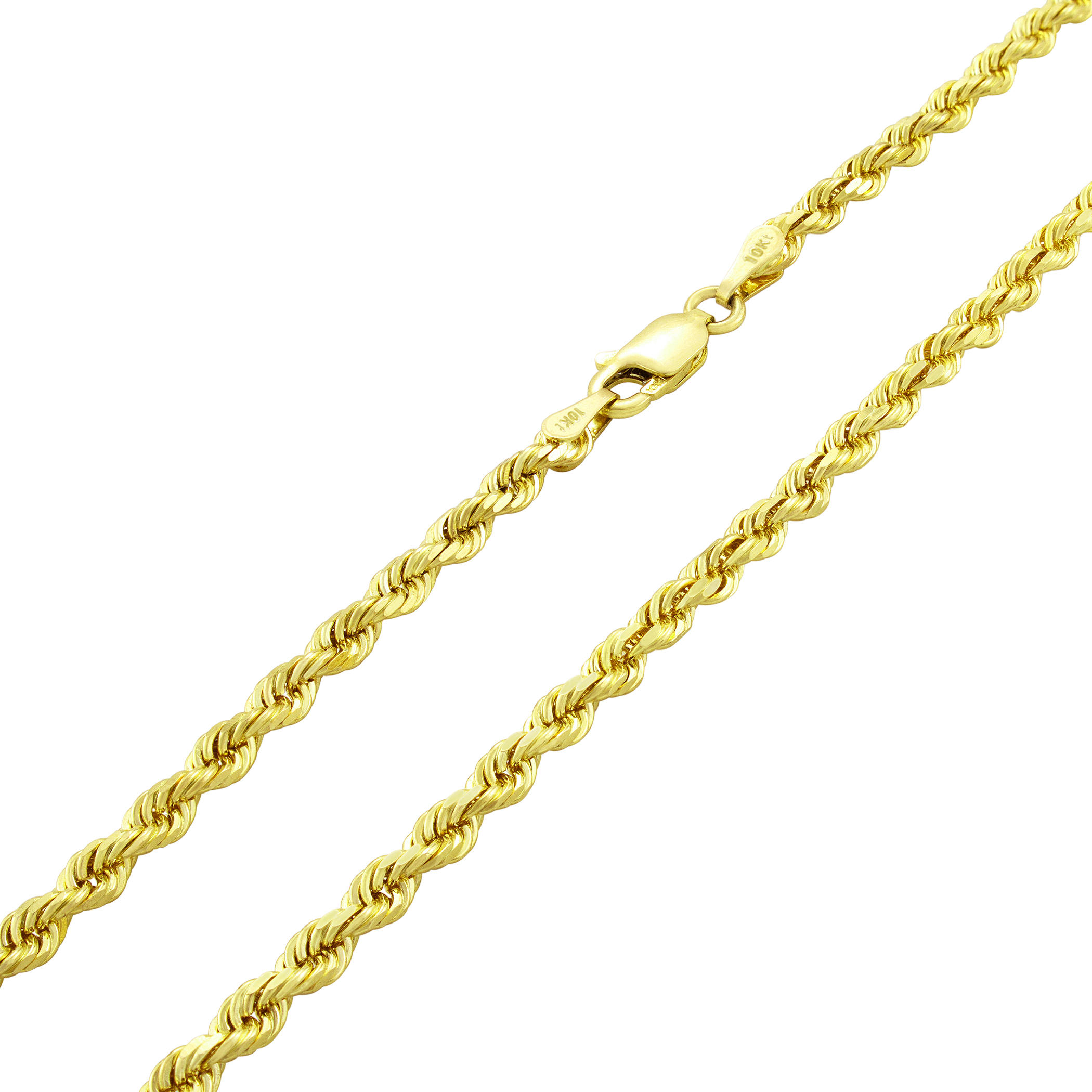 10K-Yellow-Gold-Real-3mm-Diamond-Cut-Rope-Chain-Bracelet-Lobster-Clasp-7-034-8-034-9-034 thumbnail 17