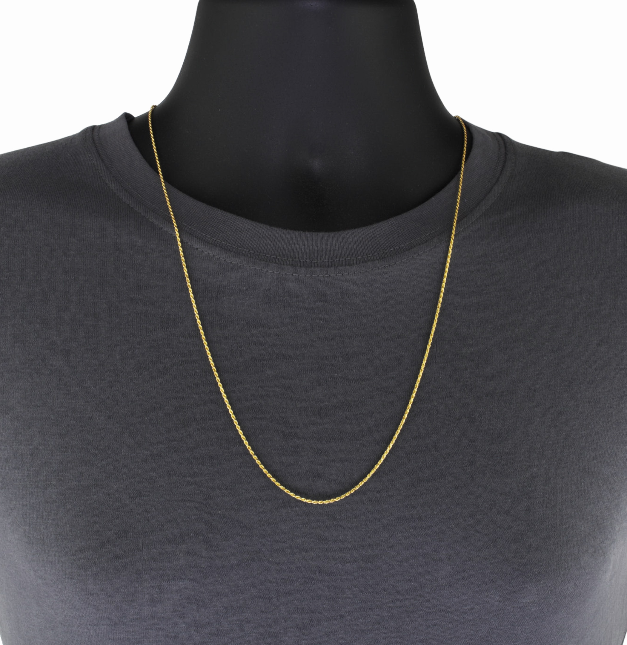 REAL 10k Yellow Gold Italian 3mm Mens Womens Diamond Cut Rope Chain Necklace 22″