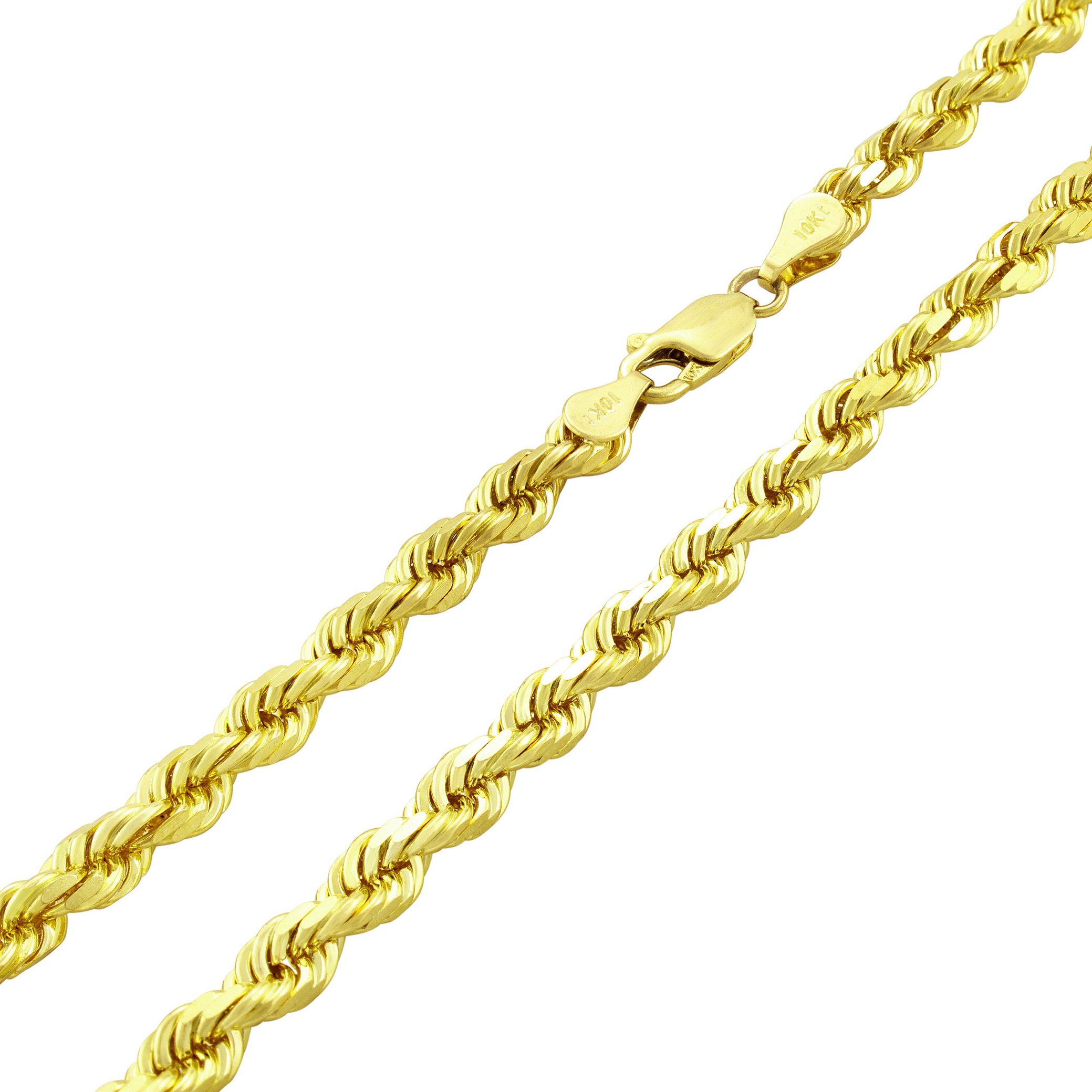 10K-Real-Yellow-Gold-Mens-Wide-5mm-Diamond-Cut-Rope-Chain-Bracelet-8-034-8-5-034-9-034 thumbnail 41