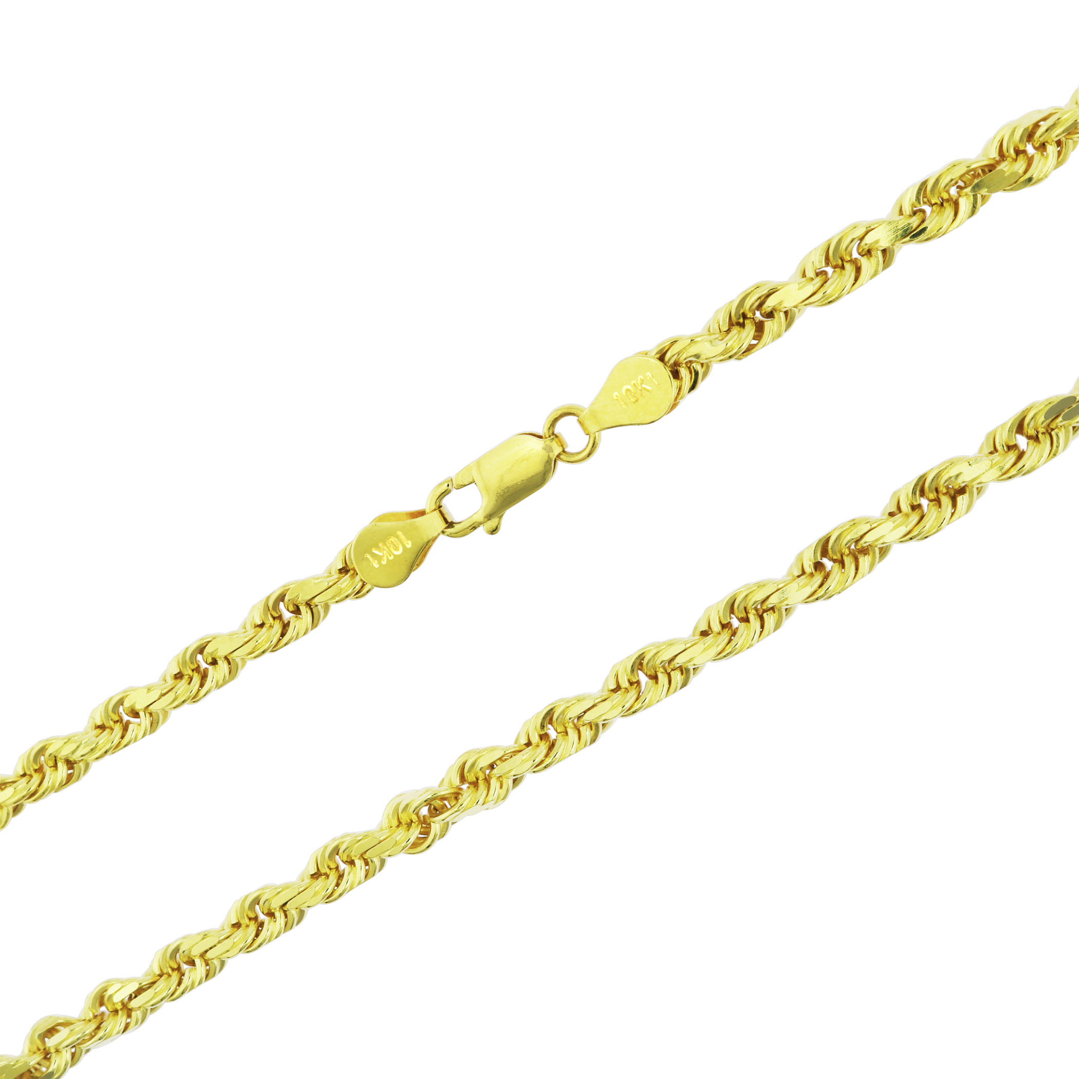 10K-Real-Yellow-Gold-Mens-Wide-5mm-Diamond-Cut-Rope-Chain-Bracelet-8-034-8-5-034-9-034 thumbnail 36