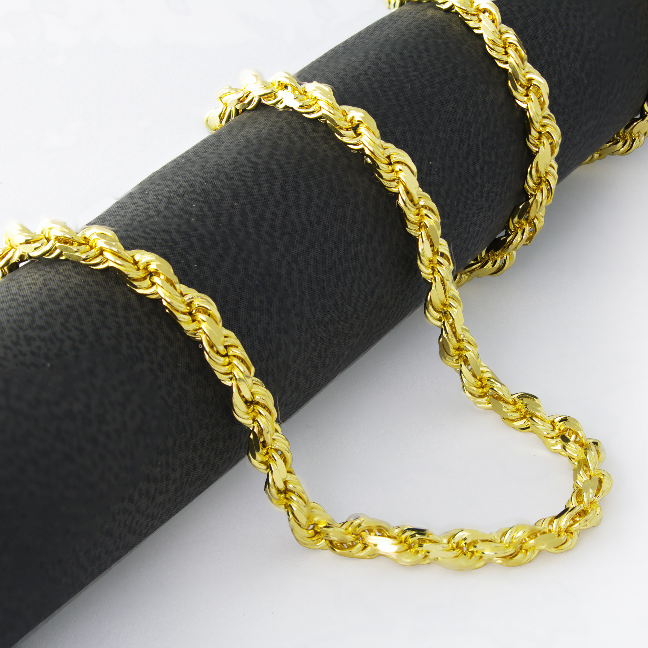10K-Real-Yellow-Gold-Mens-Wide-5mm-Diamond-Cut-Rope-Chain-Bracelet-8-034-8-5-034-9-034 thumbnail 44