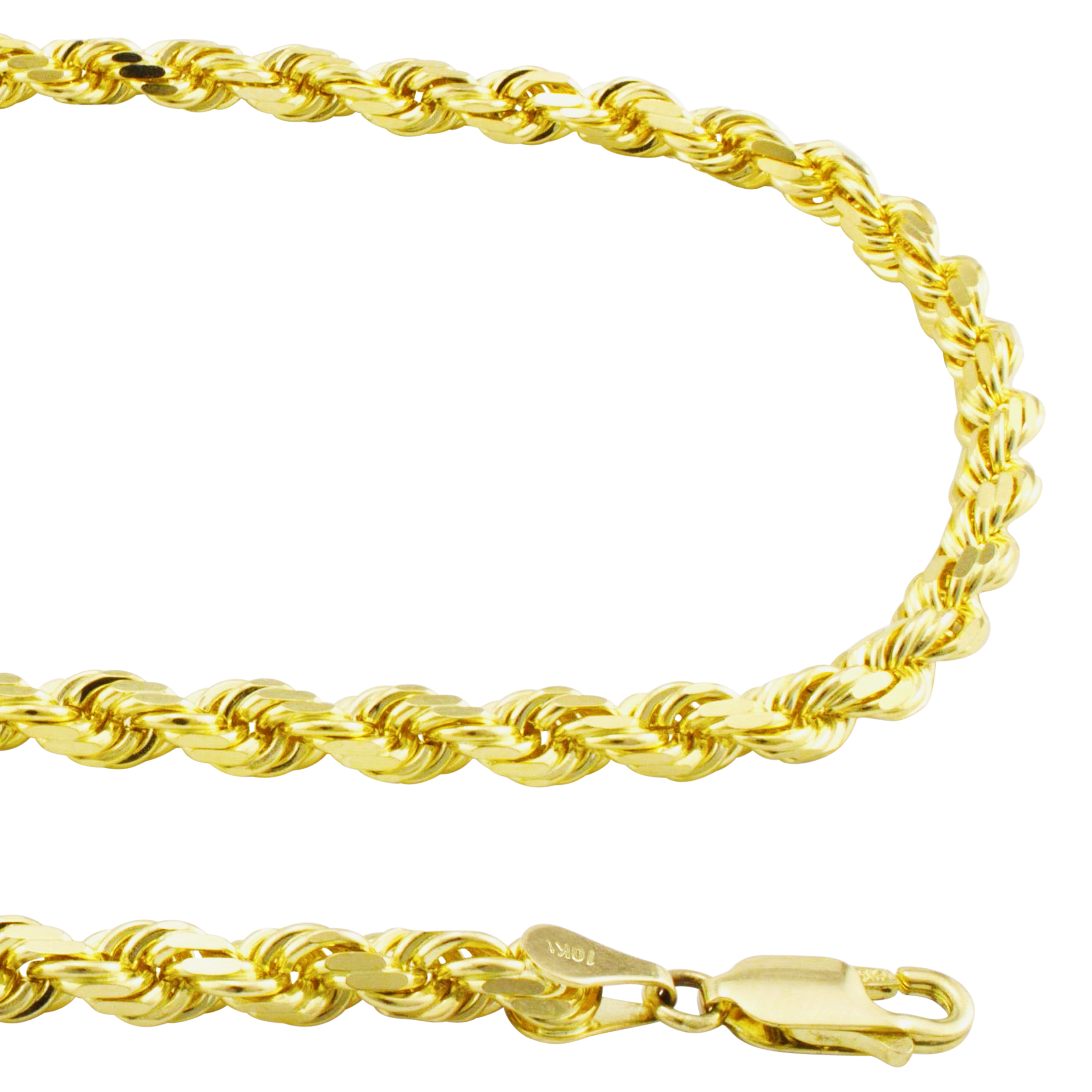 10K-Real-Yellow-Gold-Mens-Wide-5mm-Diamond-Cut-Rope-Chain-Bracelet-8-034-8-5-034-9-034 thumbnail 22