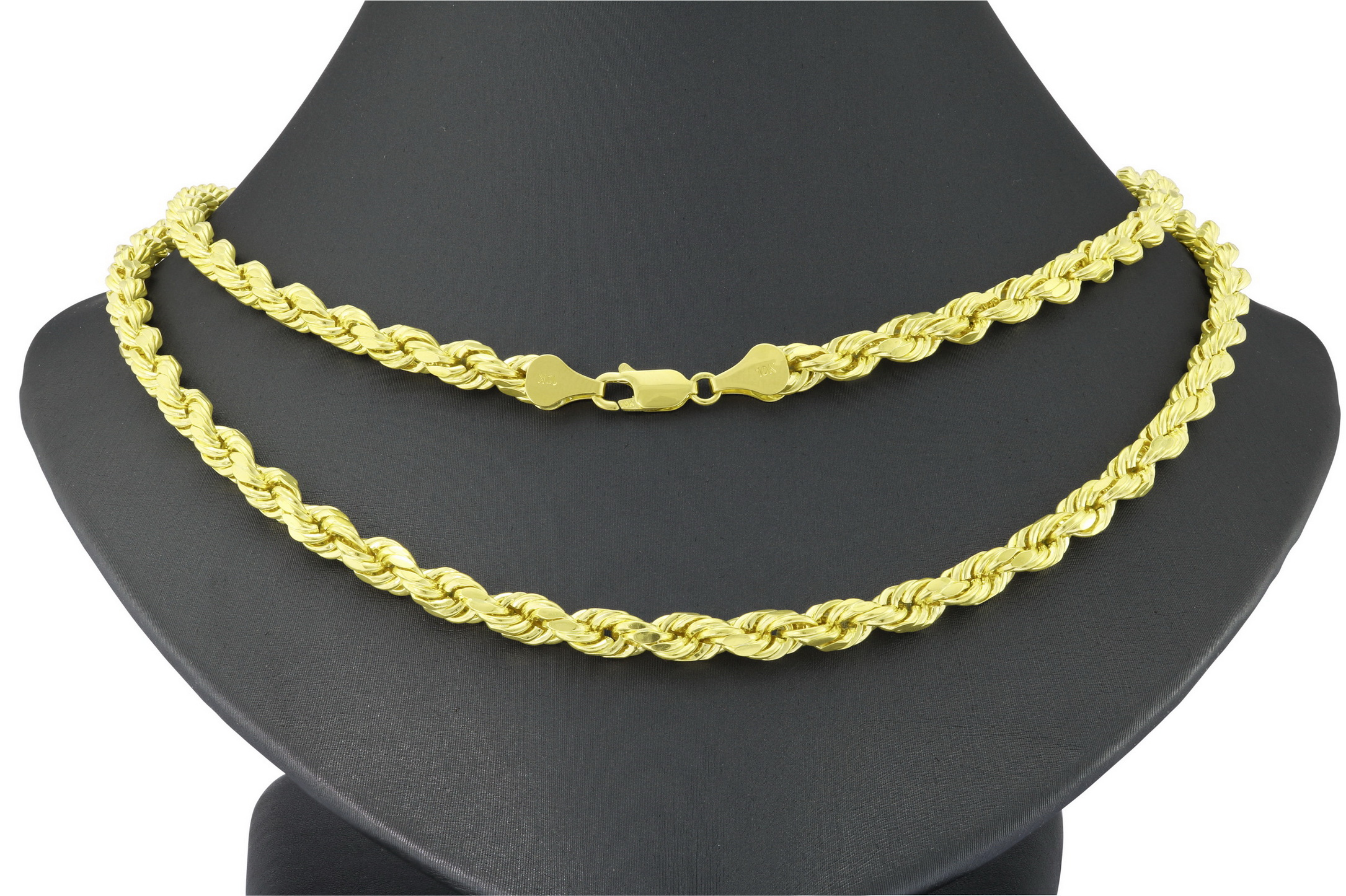 Solid-10k-Yellow-Gold-Mens-Thick-6mm-Diamond-Cut-Rope-Chain-Necklace-20-034-30-034 thumbnail 22