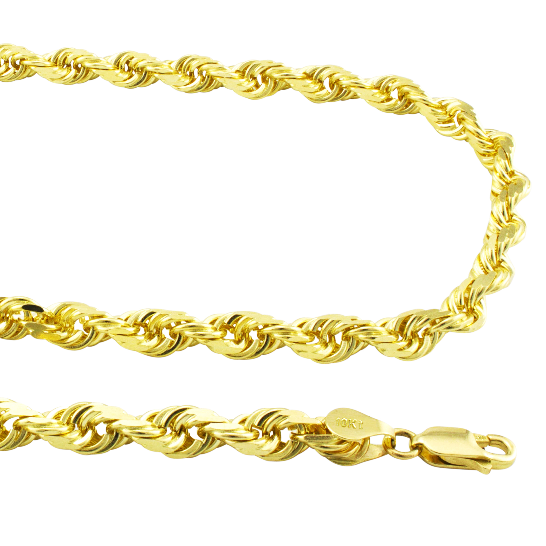 Solid-10k-Yellow-Gold-Mens-Thick-6mm-Diamond-Cut-Rope-Chain-Necklace-20-034-30-034 thumbnail 12