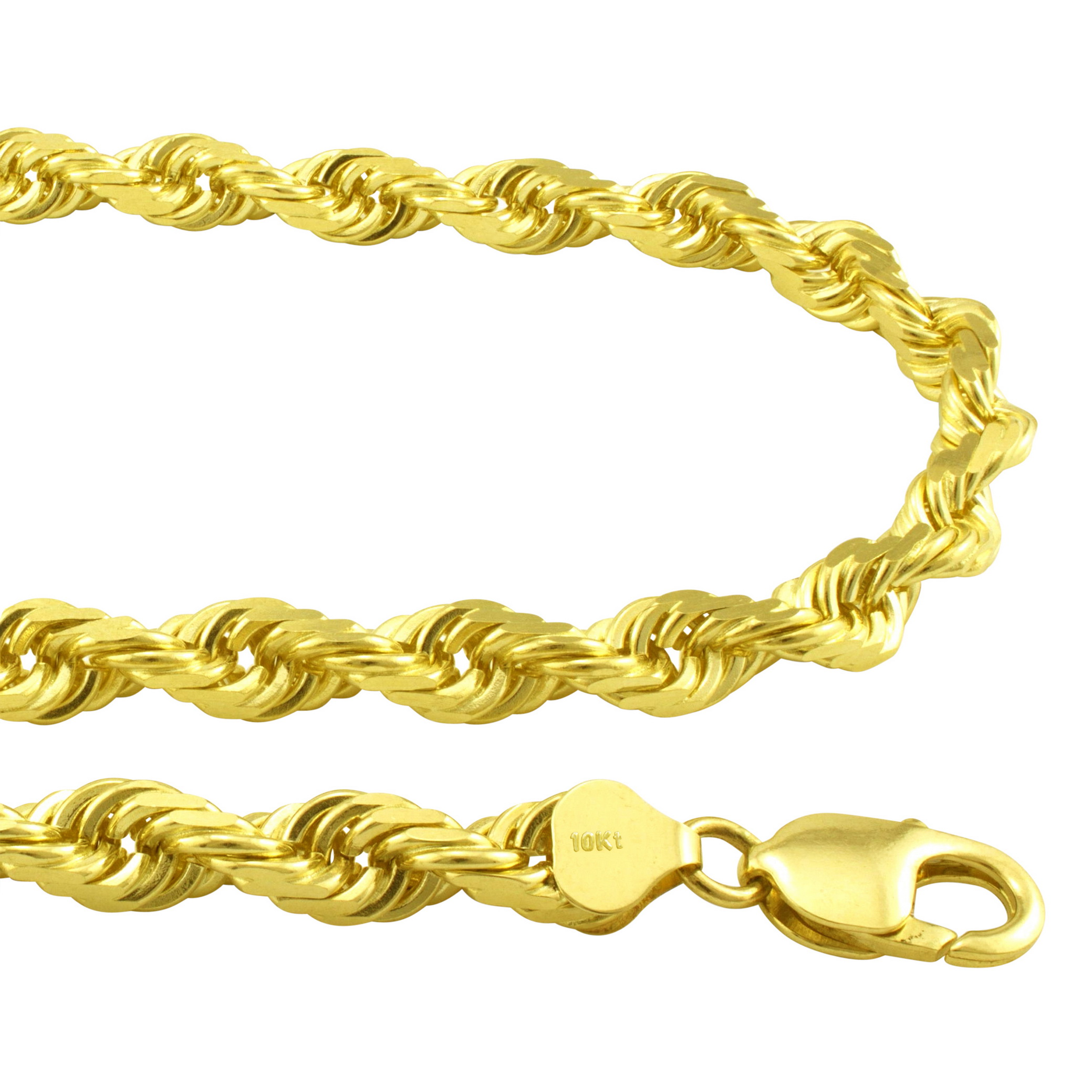 10k Gold Diamond Cut Wheat Chain Necklace White or Yellow Gold Italian made