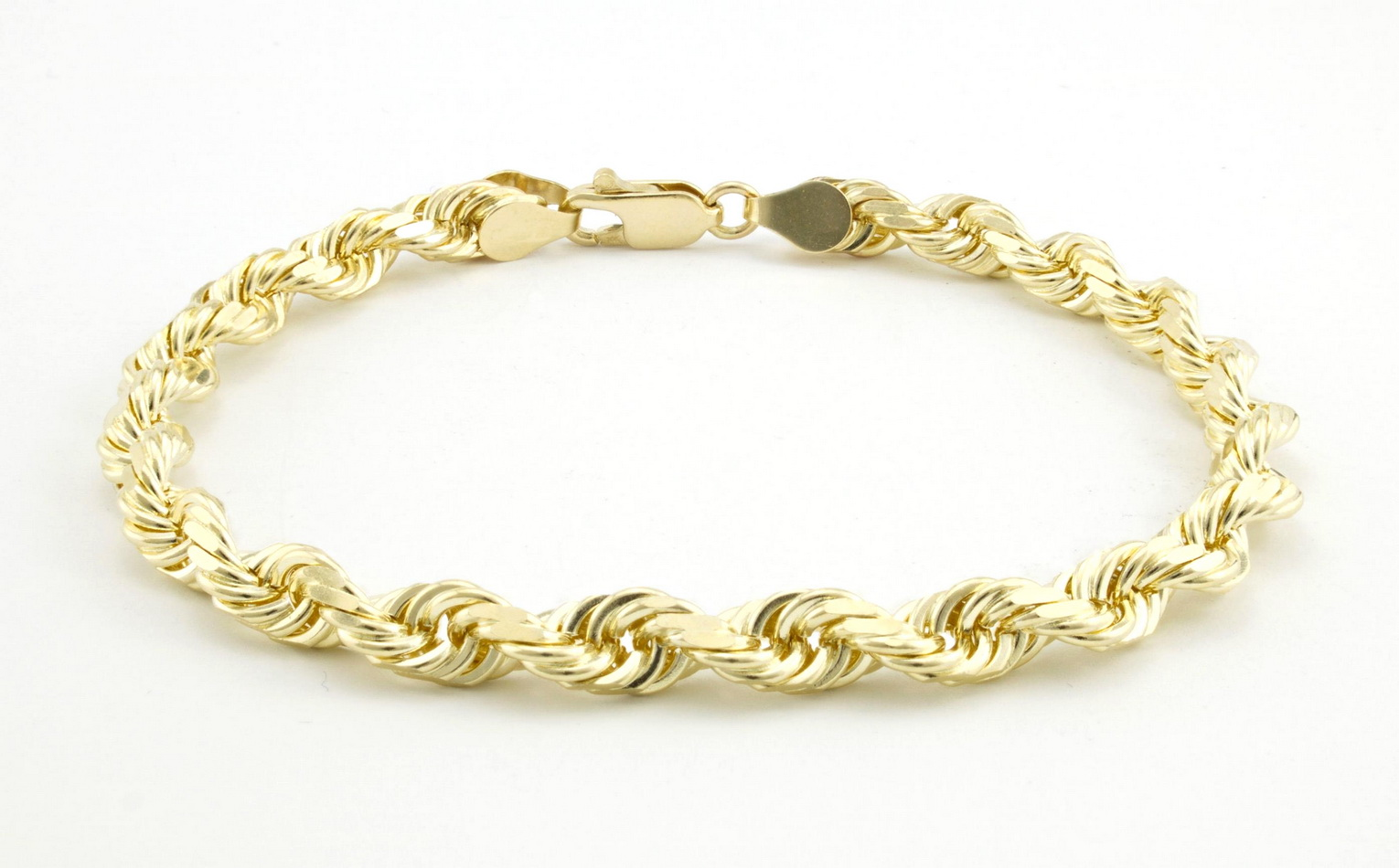 bracelet ml cut inch diamond newburysonline ladies gold curb