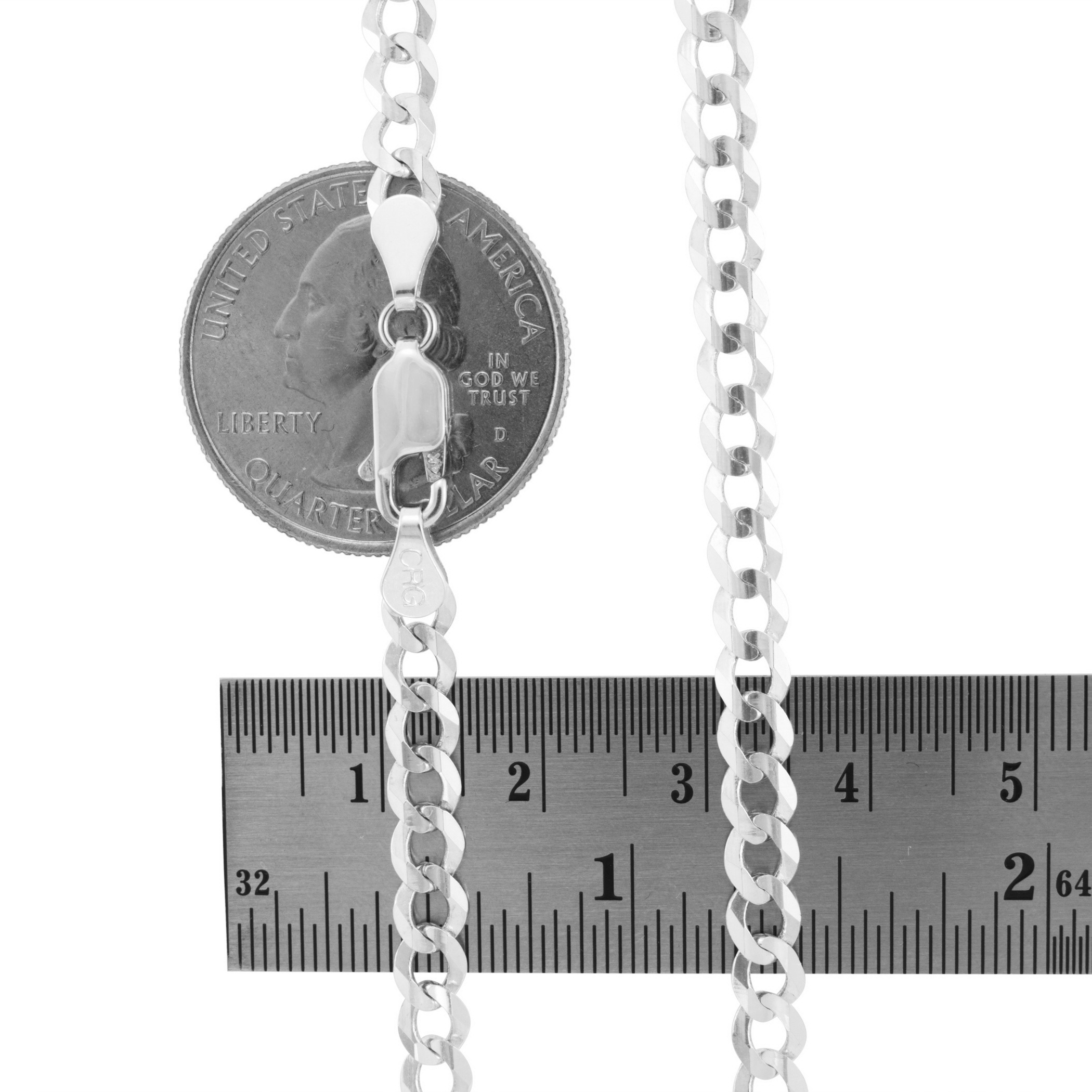 14K-White-Gold-Solid-Mens-Womens-2mm-8-5mm-Cuban-Chain-Pendant-Necklace-16-034-30-034 thumbnail 22