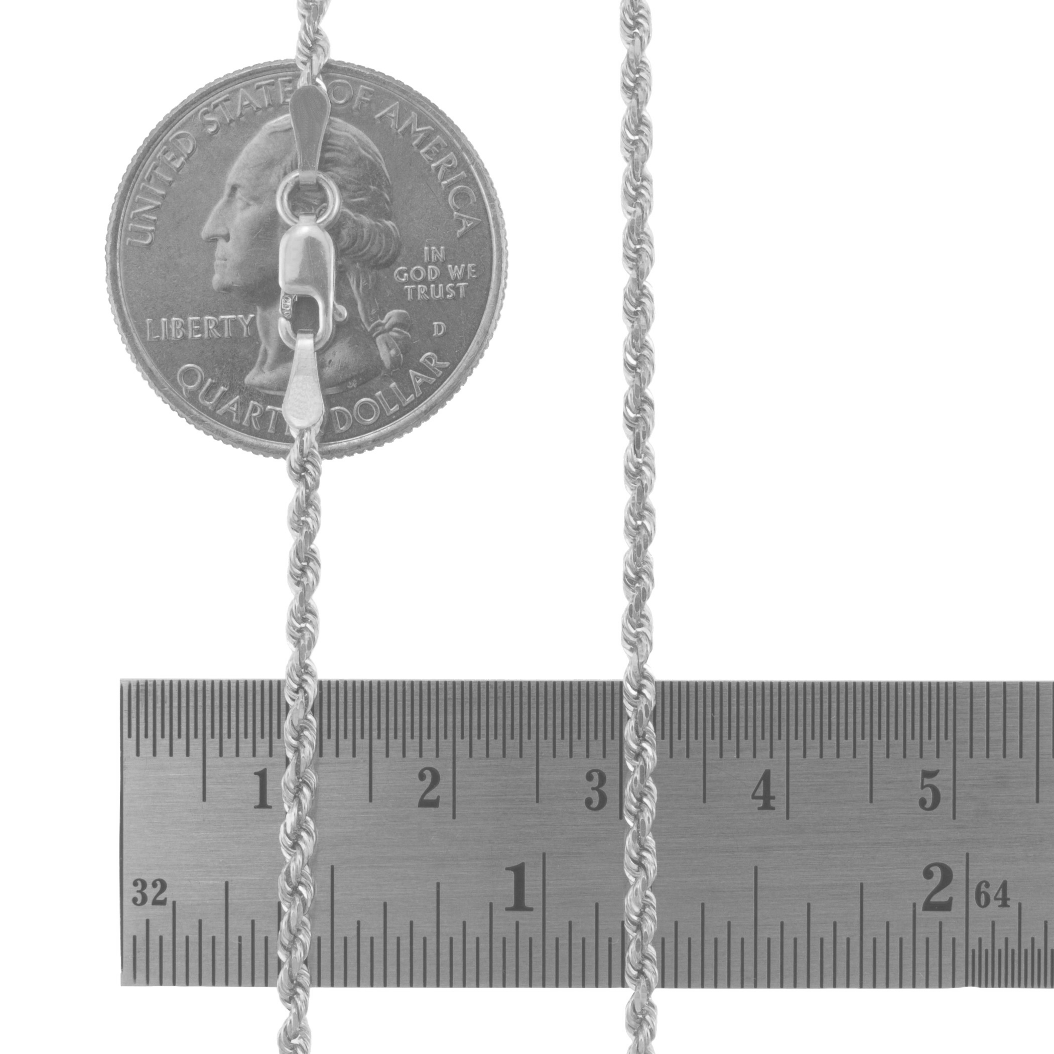14K-White-Gold-Italian-2-5mm-Diamond-Cut-Rope-Chain-Pendant-Necklace-14-034-30-034 thumbnail 13