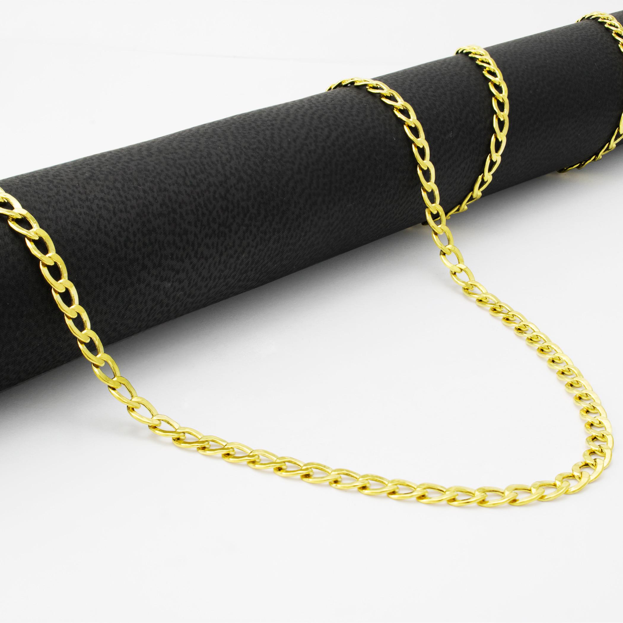 14K-Yellow-Gold-3-5mm-Women-Curb-Cuban-Chain-Link-Bracelet-Anklet-Chain-7-034-8-034-9-034 thumbnail 21