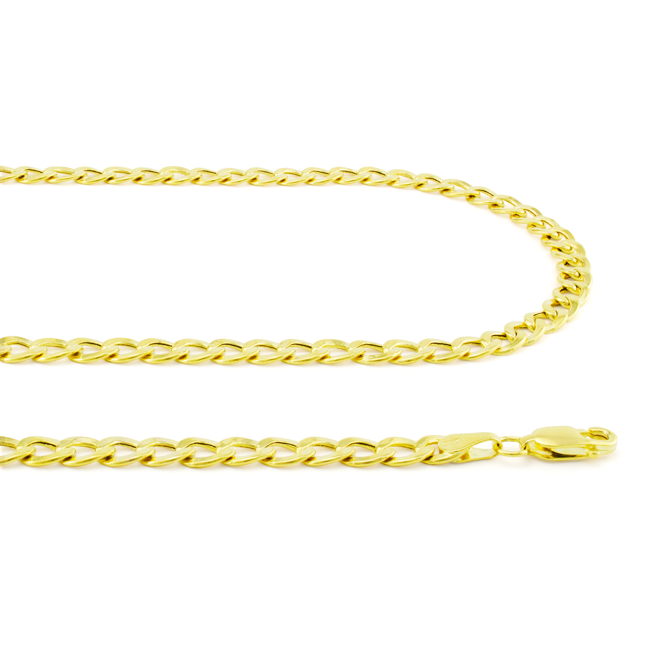 Real-14K-Yellow-Gold-4-5mm-Cuban-Curb-Chain-Link-Bracelet-Anklet-Chain-7-034-8-034-9-034 thumbnail 22
